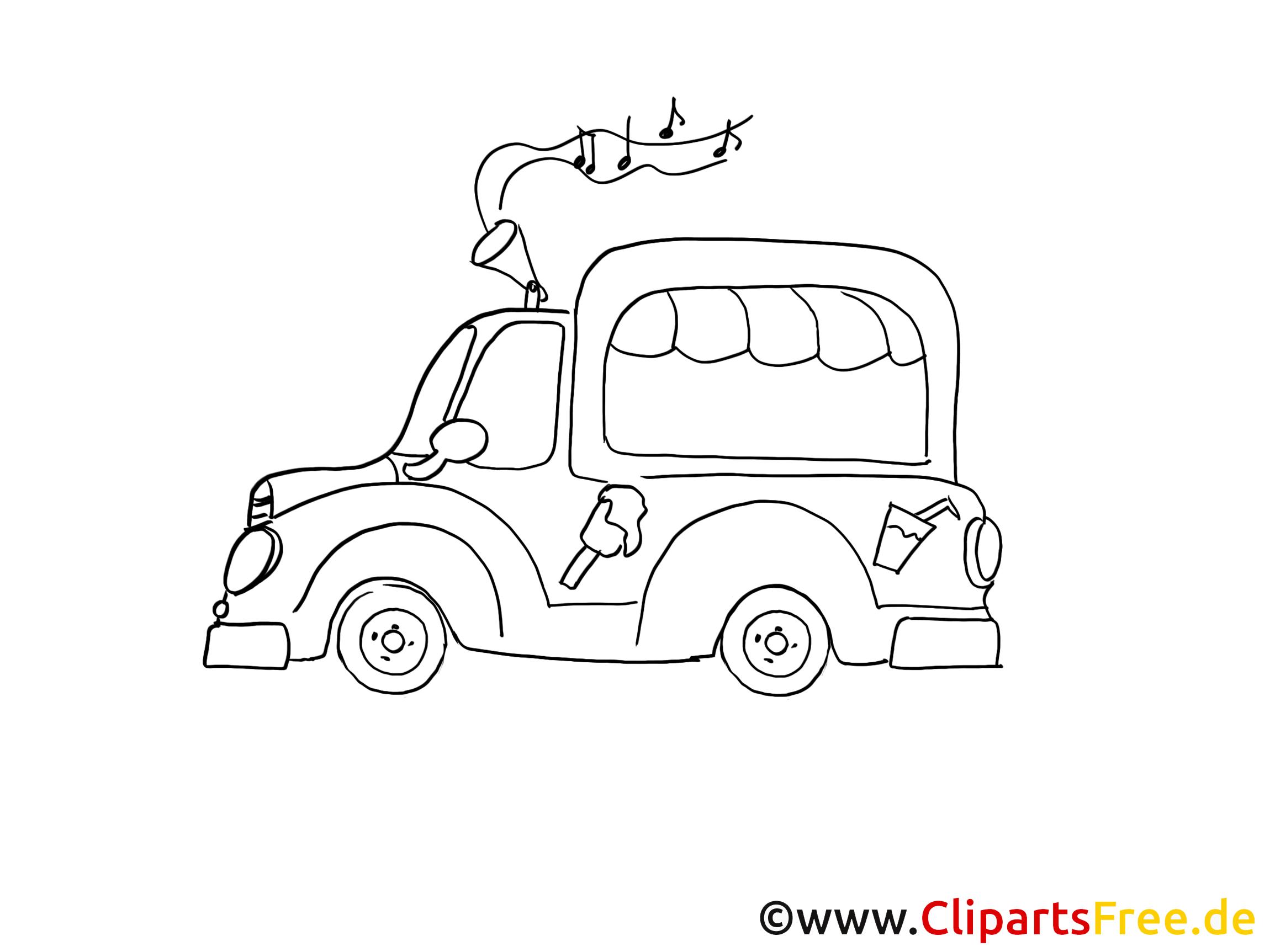 bild zum ausmalen auto