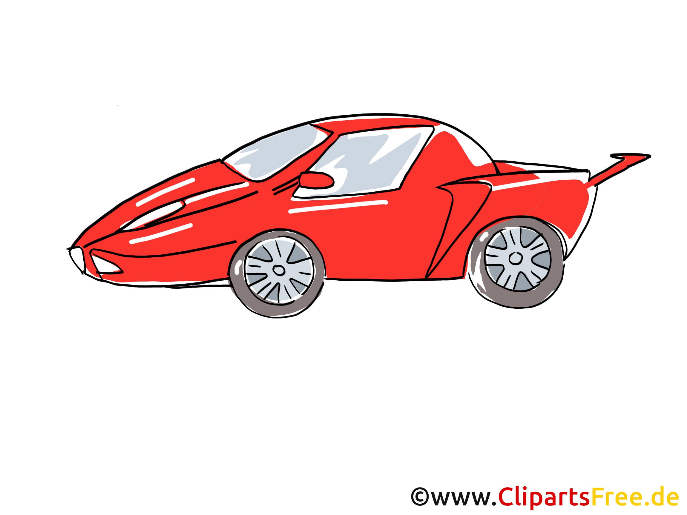 Voiture de sport rouge Clip Art, Image, Pic, dessin animé ...
