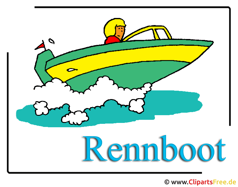 Rennboot Clipart free Transport