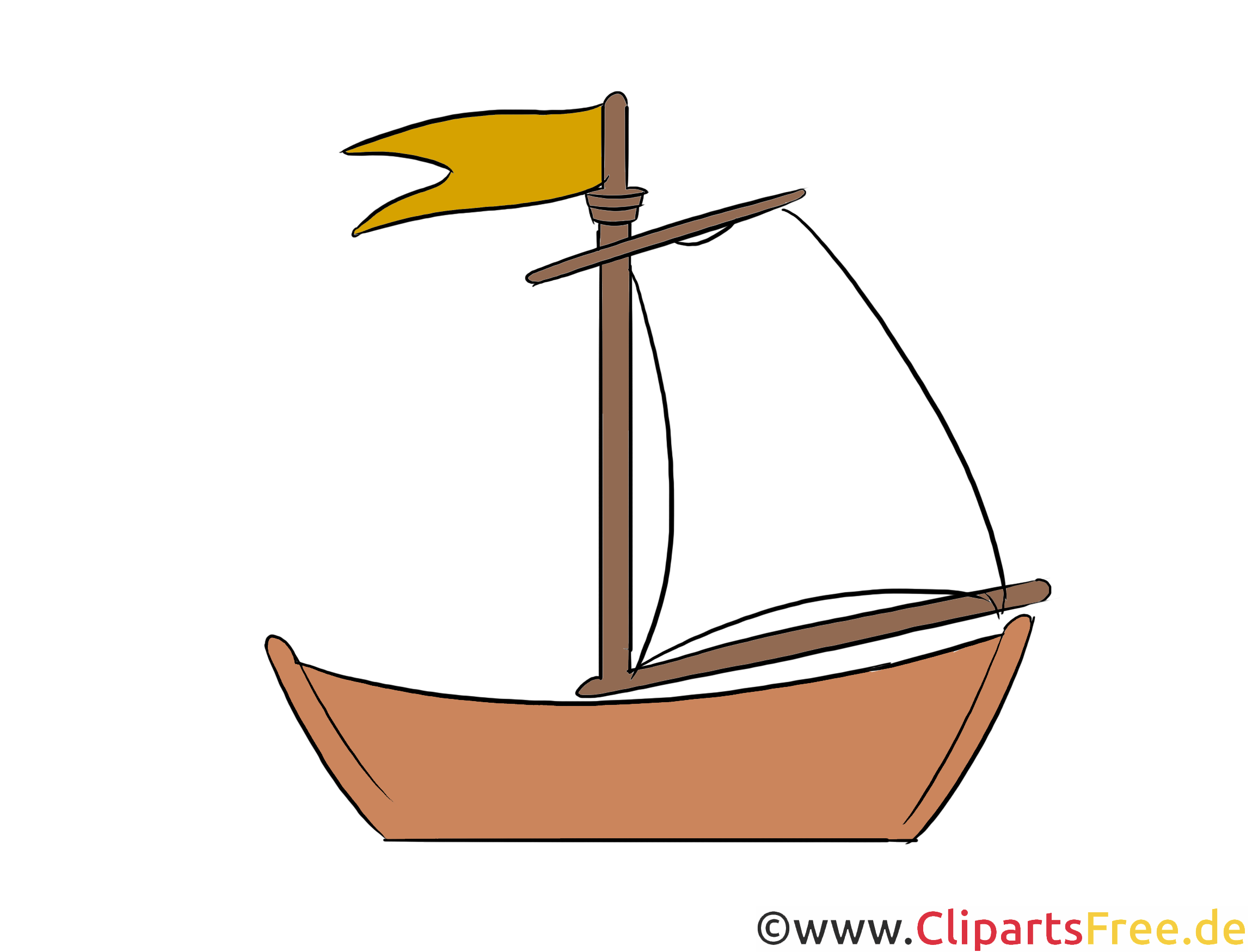 Segelschiff Clipart, Illustration, Bild kostenlos
