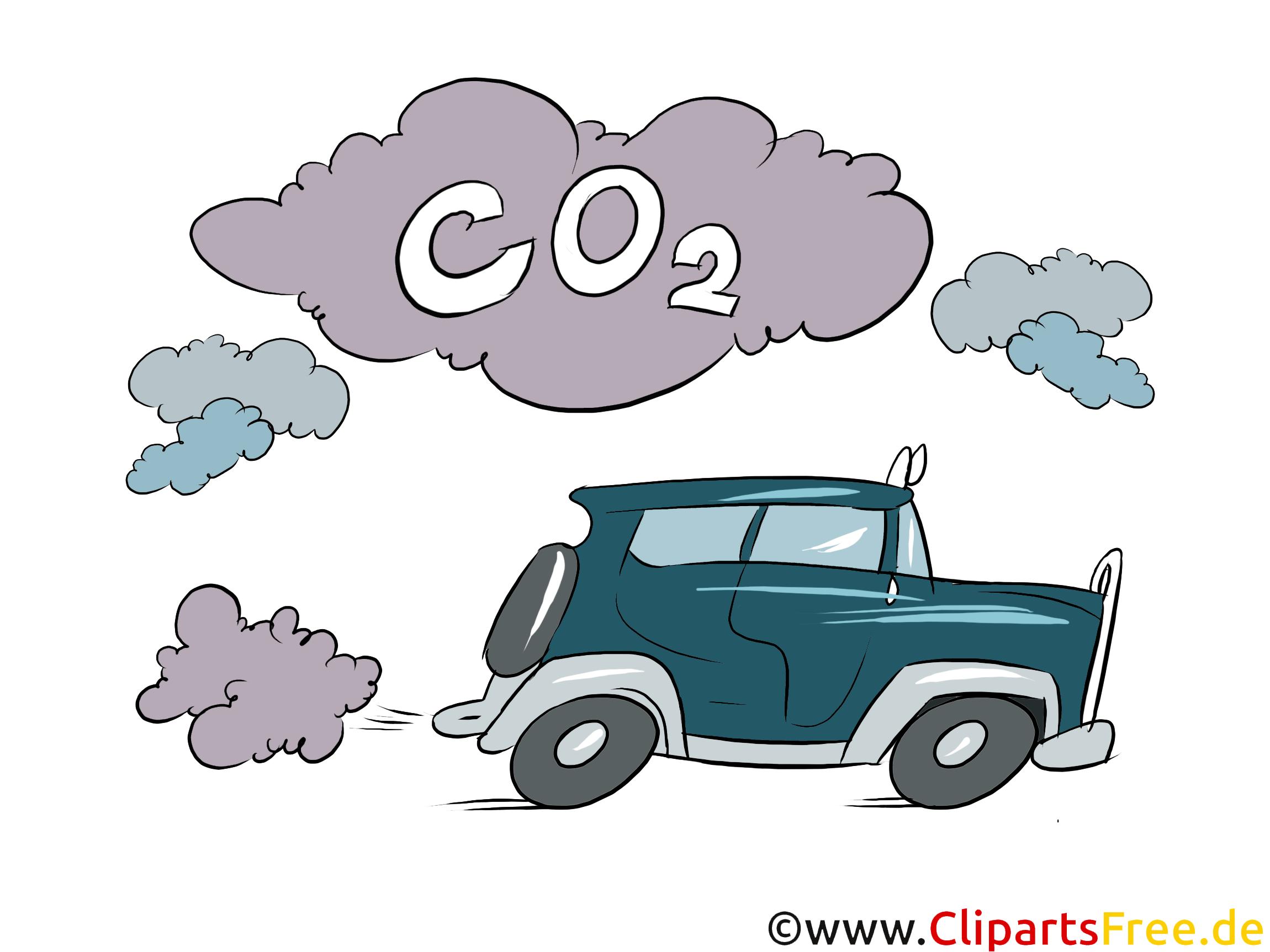 Auto ohne Partikelfilter Clipart, Stock Bild, Illustration