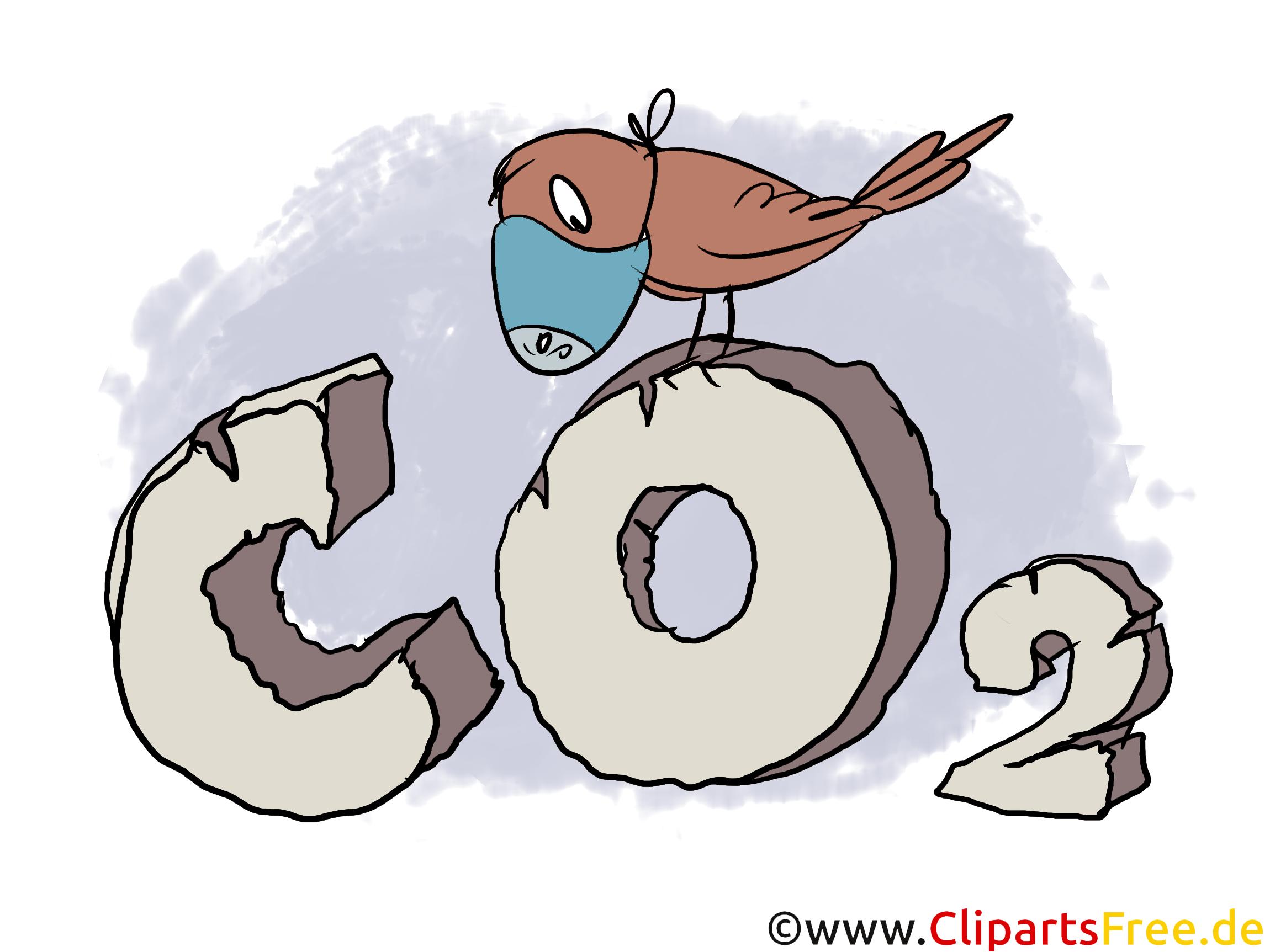 Co2 Illustration, Clipart, Stock Bild kostenlos