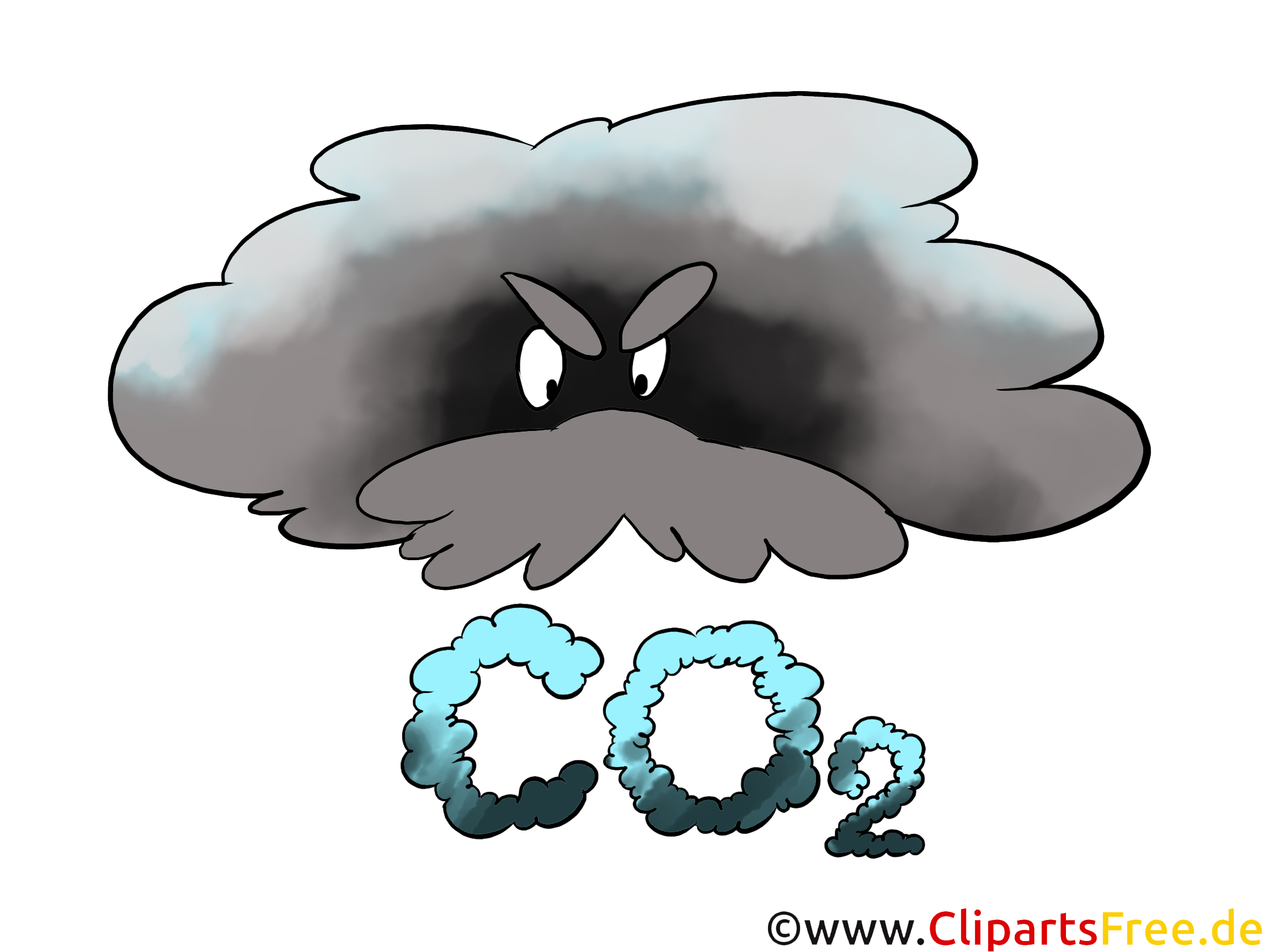 CO2 in der Luft Bild, Clipart, Grafik