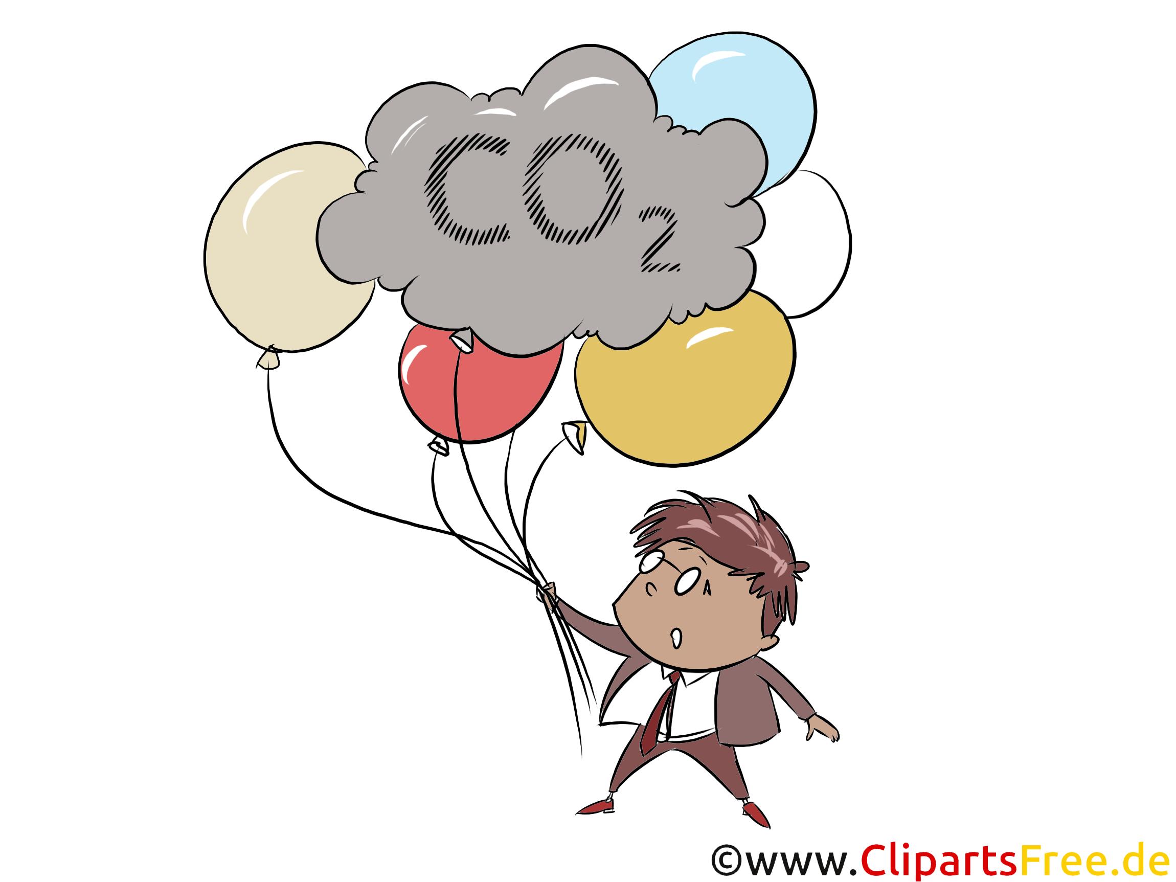 Klimawandel Stock Clipart, Image, Grafik