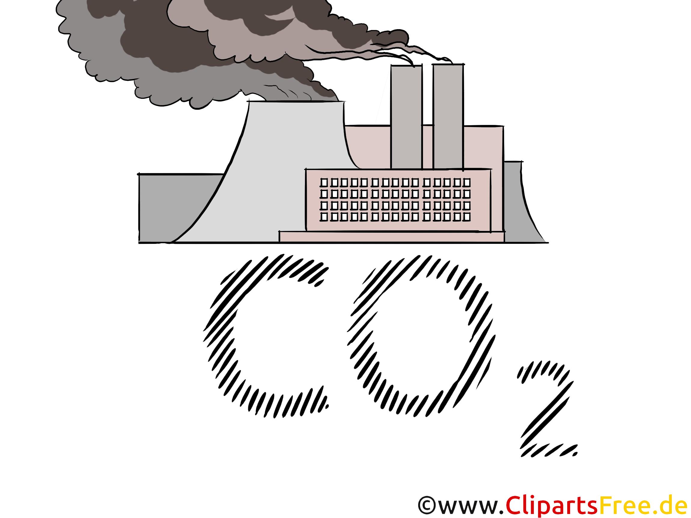 Luftverschmutzung durch Industrie Clipart, Stock Illustration, Grafik kostenlos