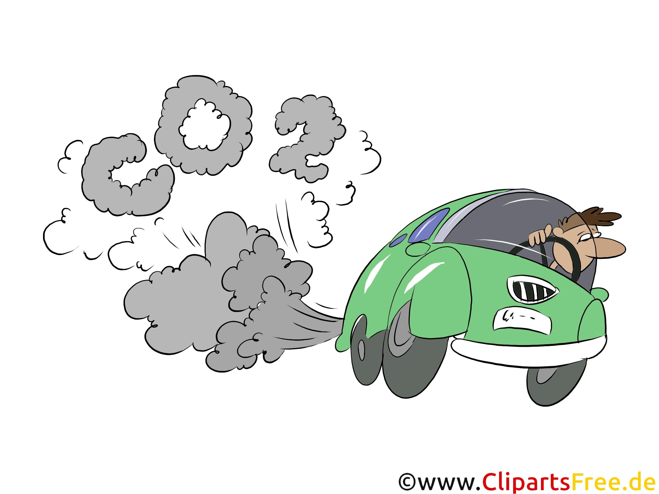 PKW verschmutzt Luft Stock Bilder, Cliparts, Illustrationen