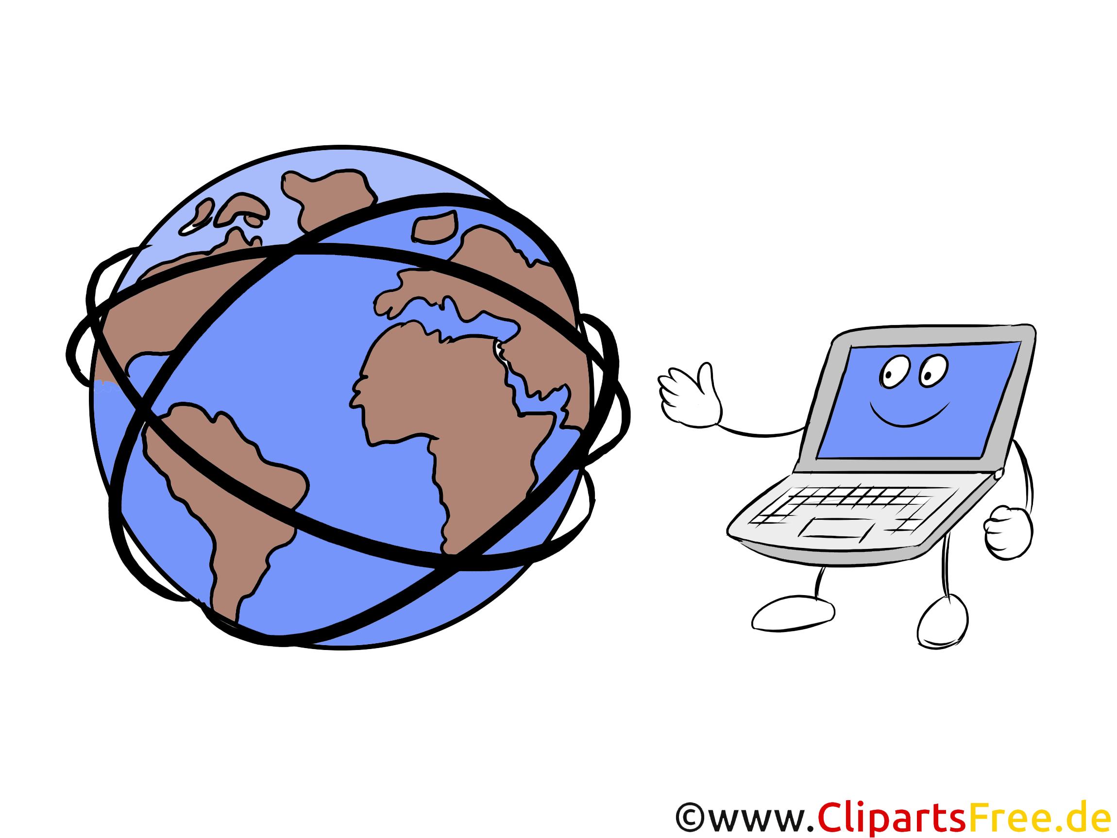Internet Clipart - World Wide Web Comic