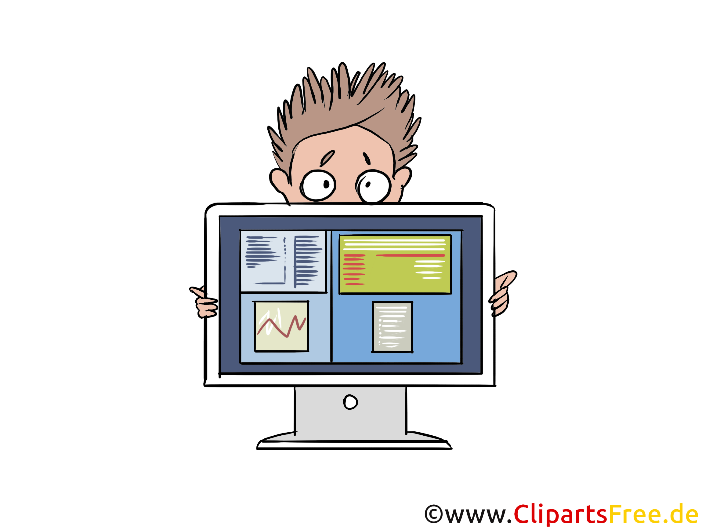 Produktpräsentation Clipart, Bild, Illustration