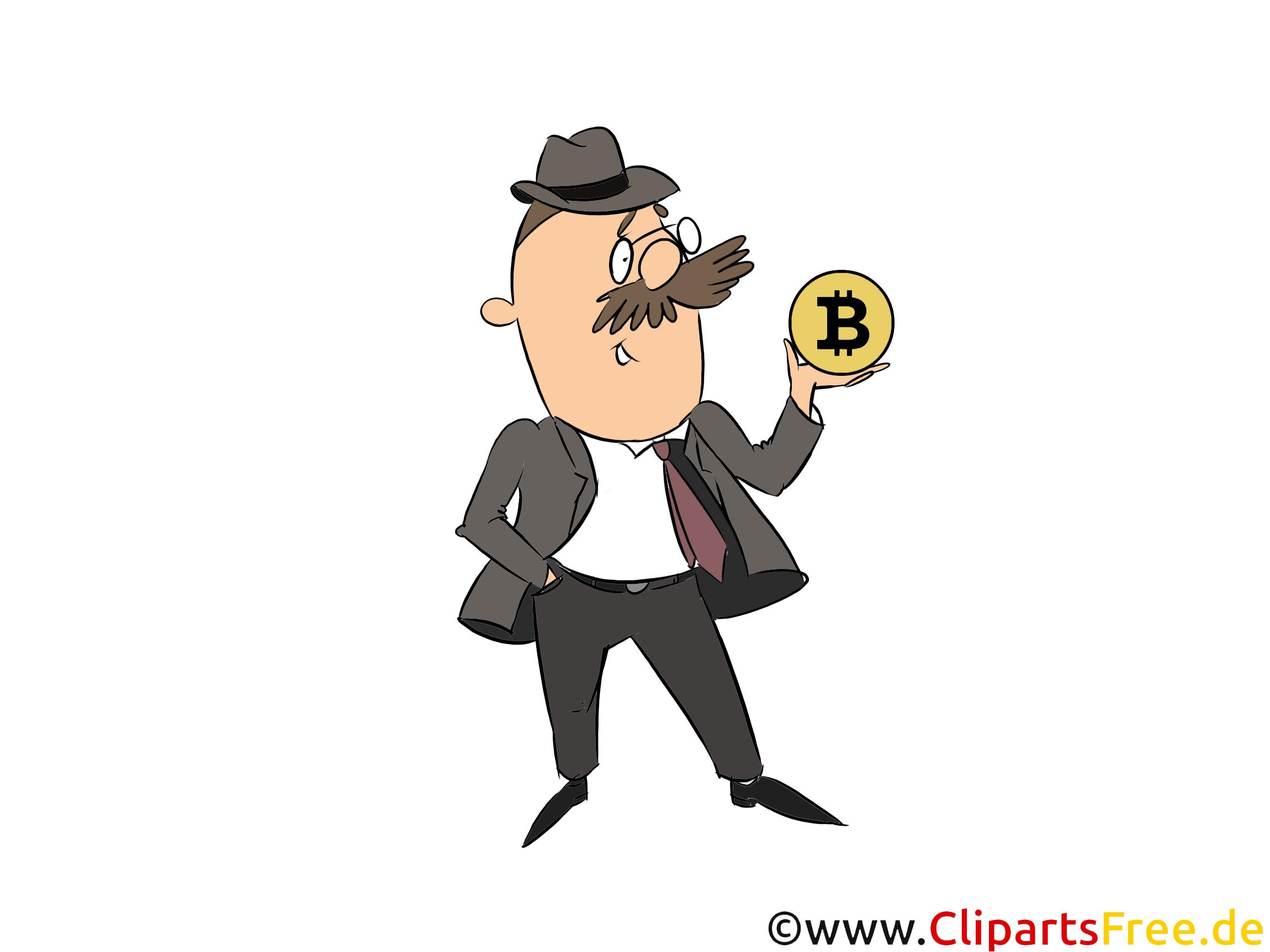 Bitcoin Investor Bild, Clipart, Illustration