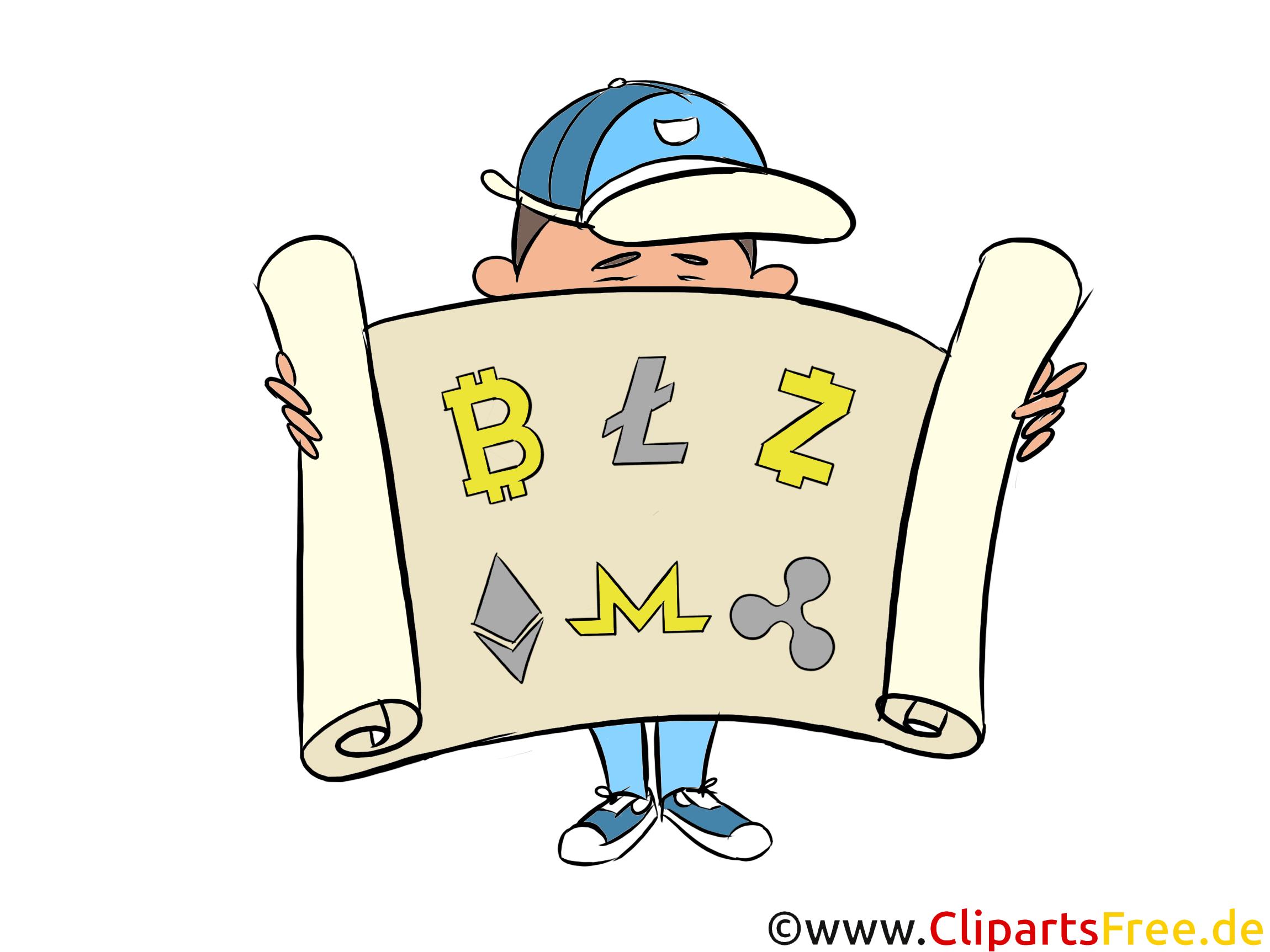 Coins Symbole, Zeichen Clipart