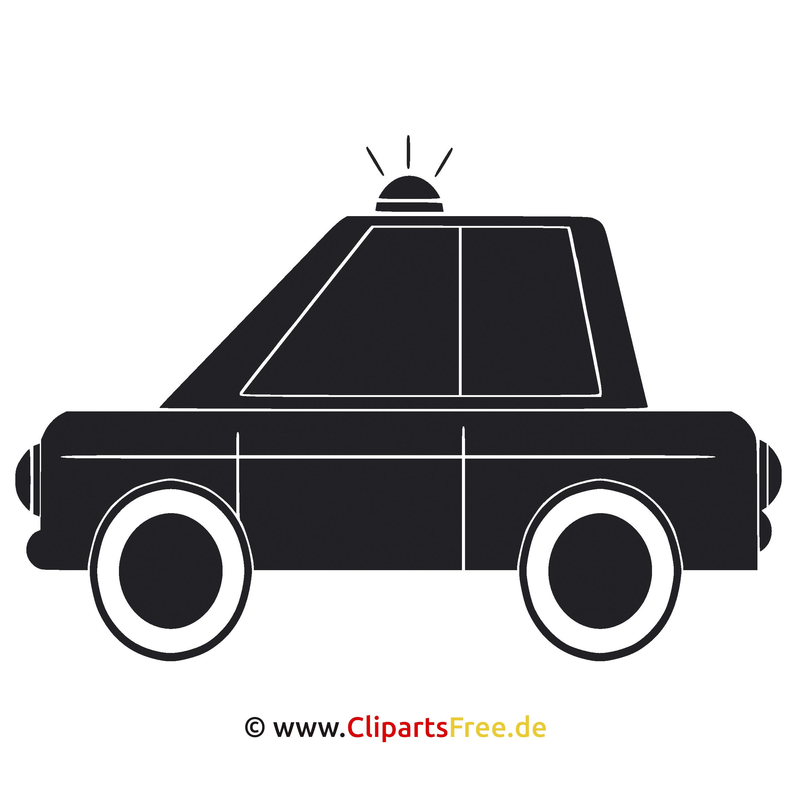 SVG Graphics - Polizei Auto Clipart