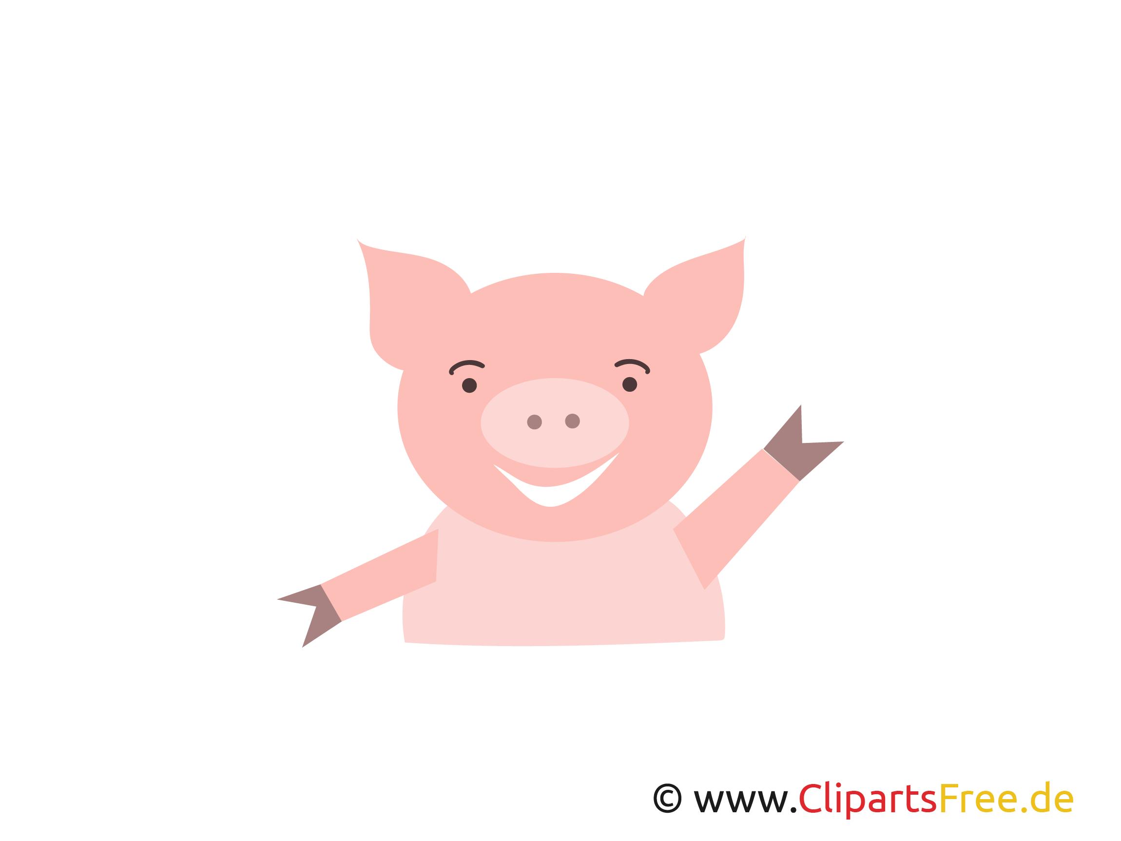 Schwein Clipart, Logo, Bild