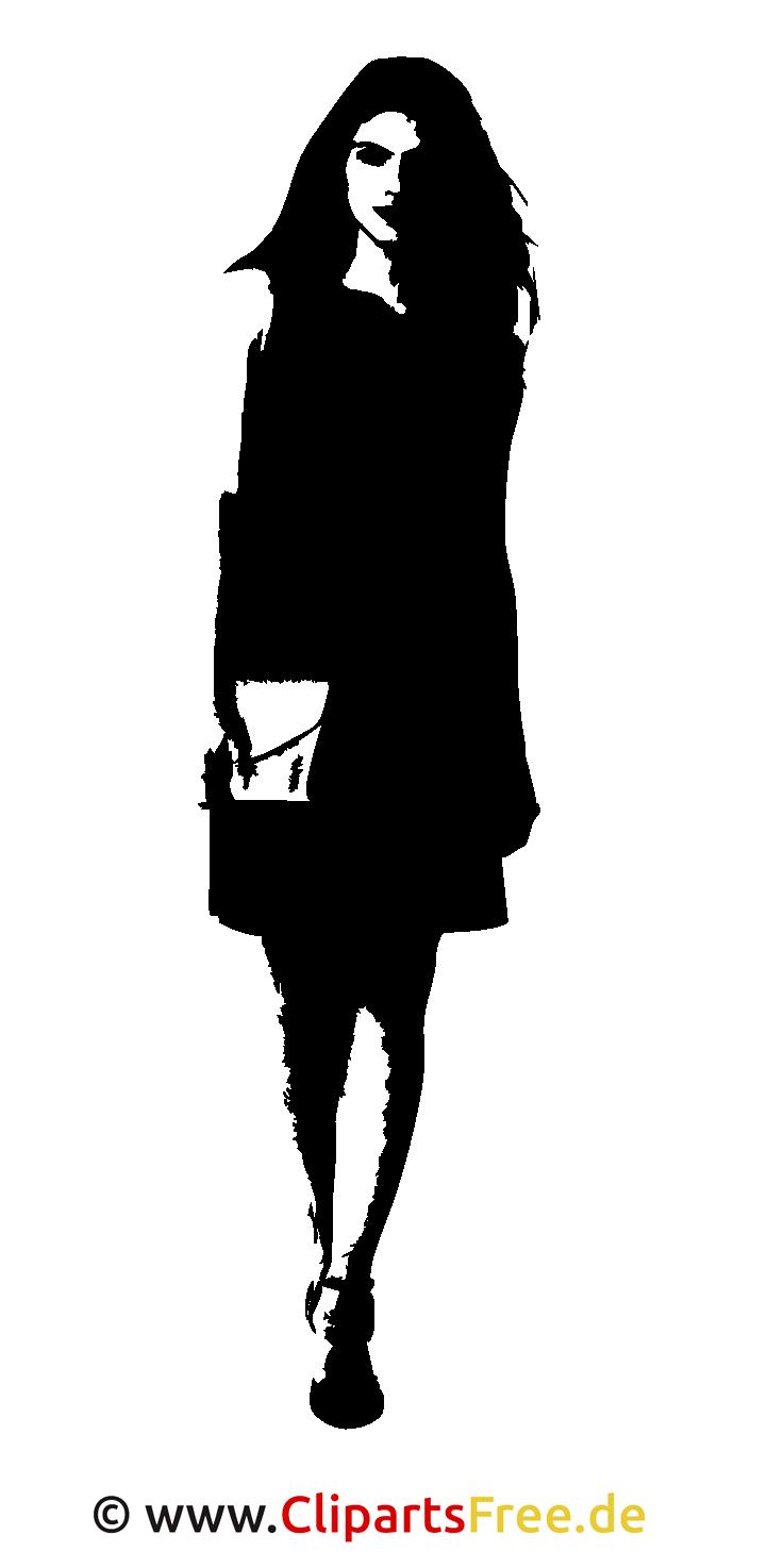Vector Grafik Silhouette Girl