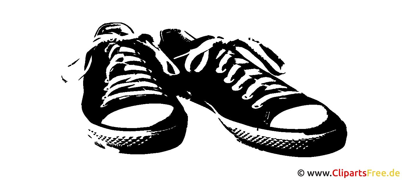 Clipart SVG Turnschuhe schwarz-weiß