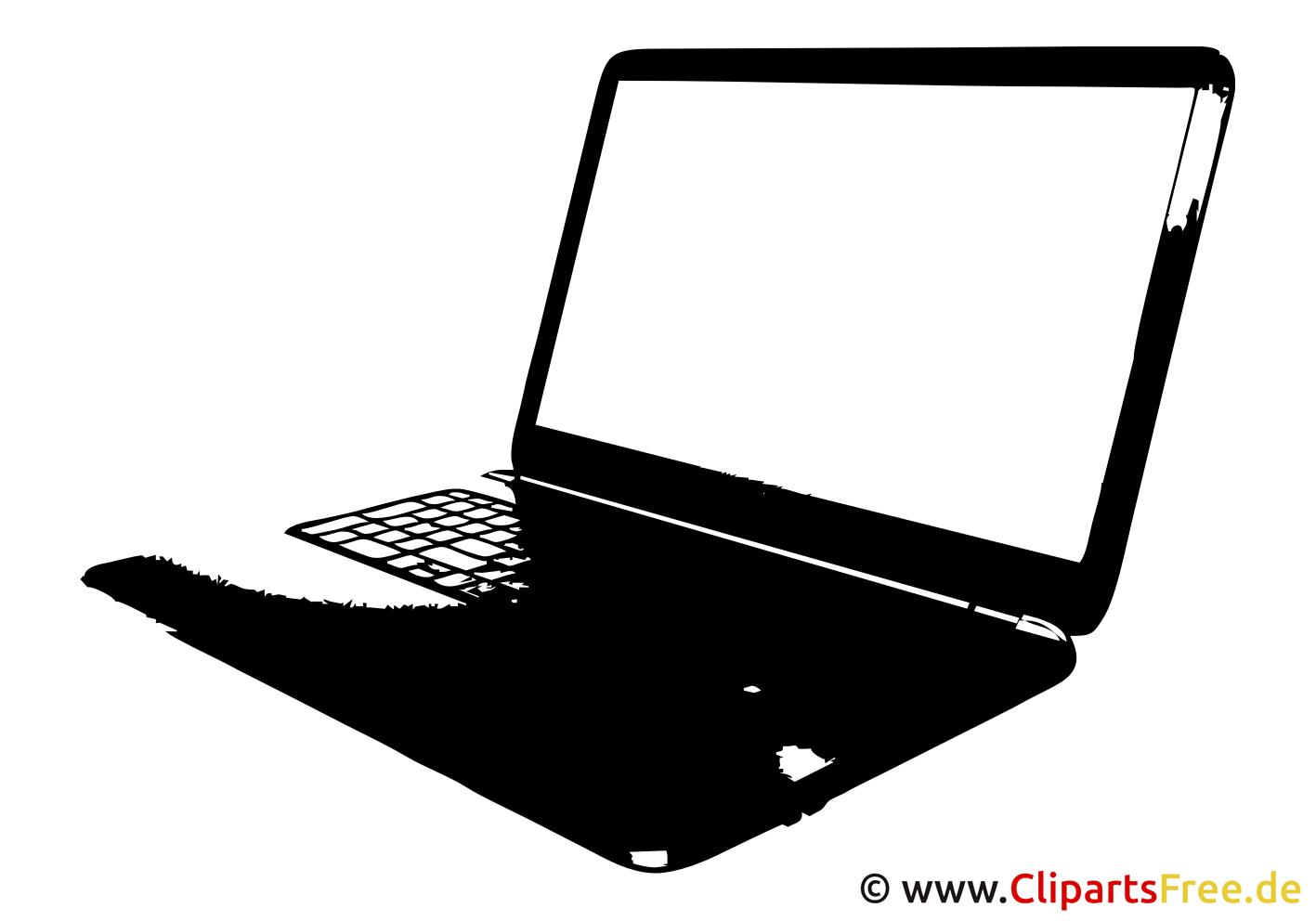 Clipart Laptop Vektor-SVG