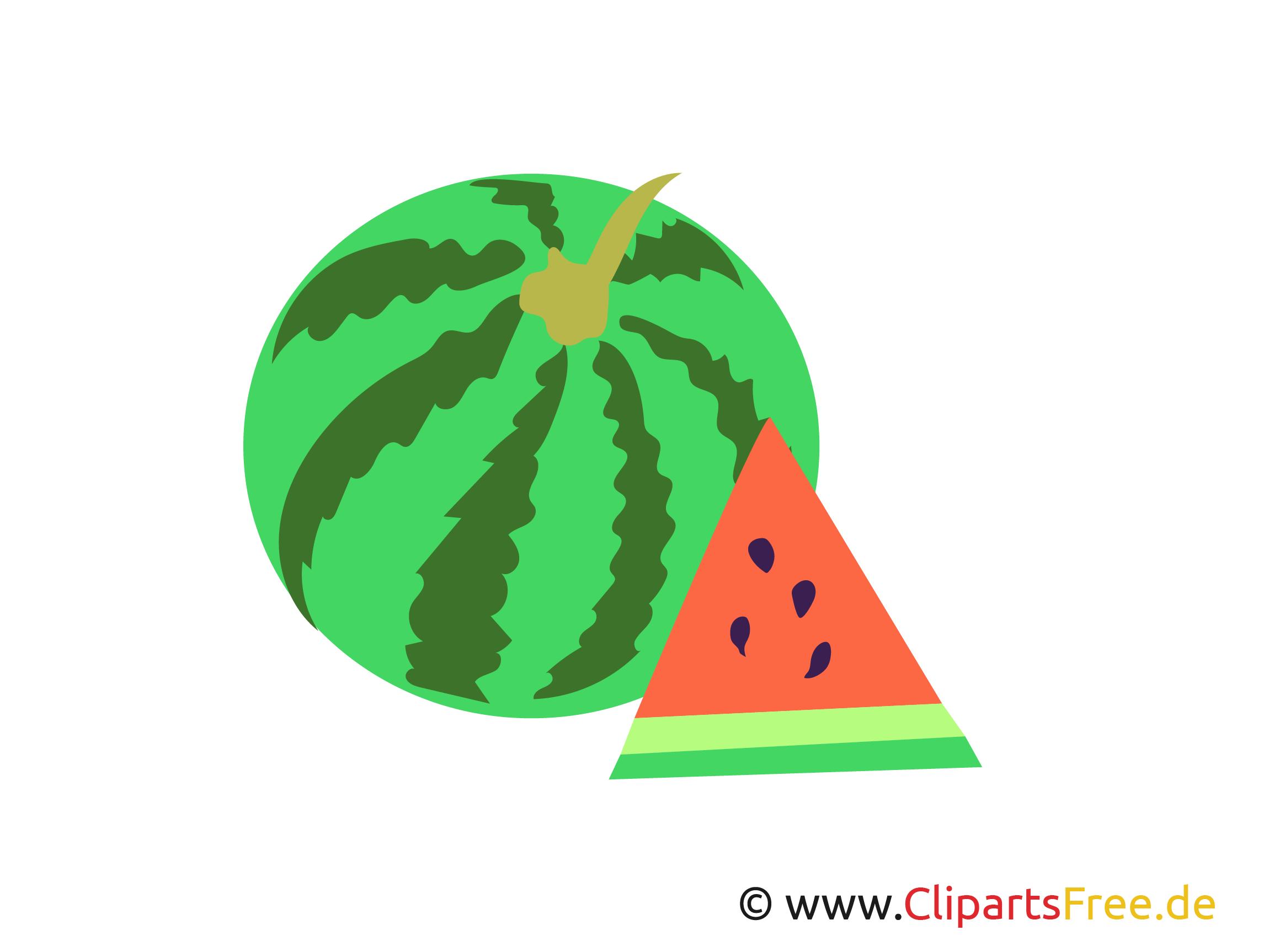 Wassermelone einfaches Clipart, Bilder, Images