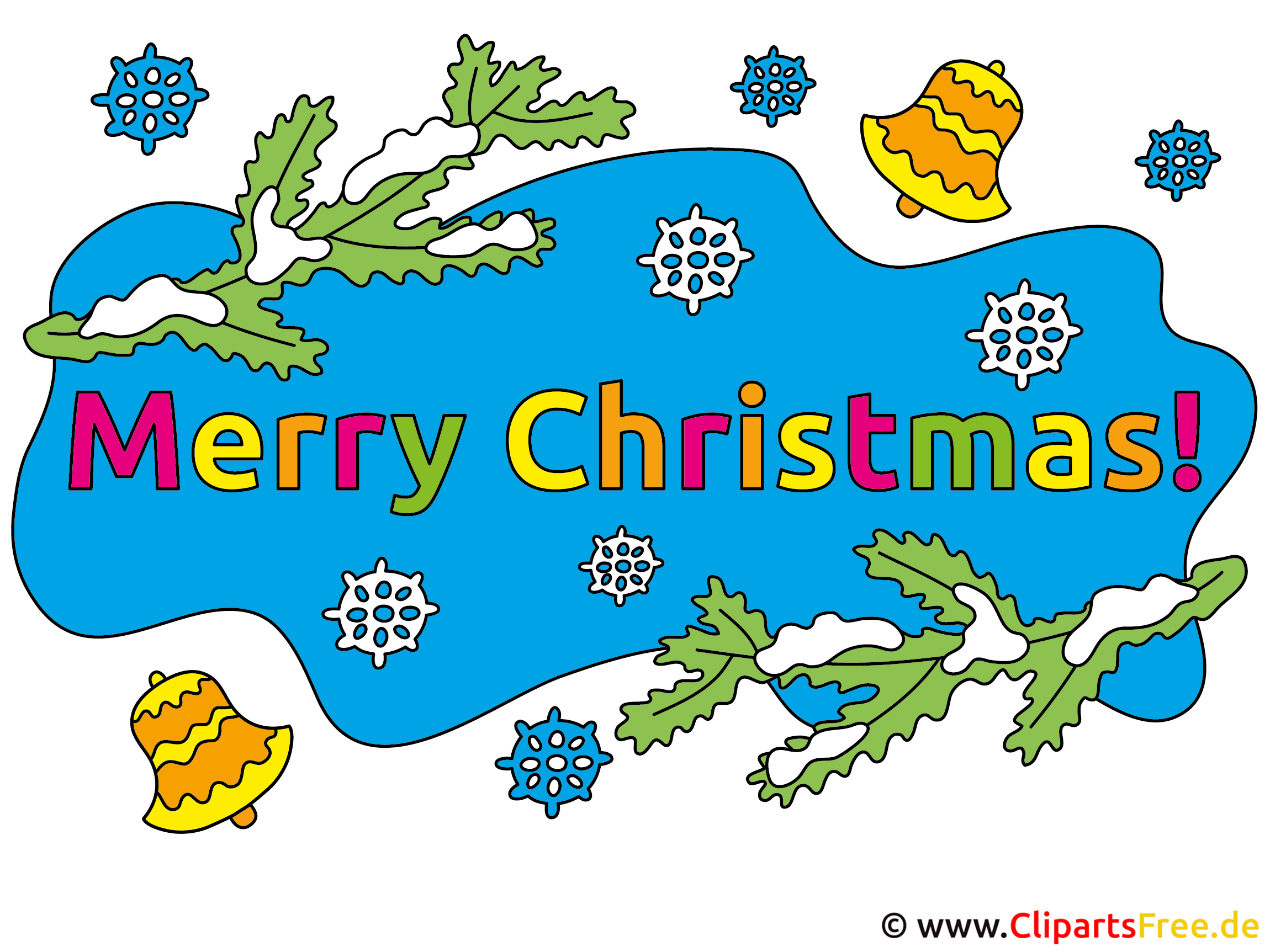 Clip Art Merry Christmas download gratis
