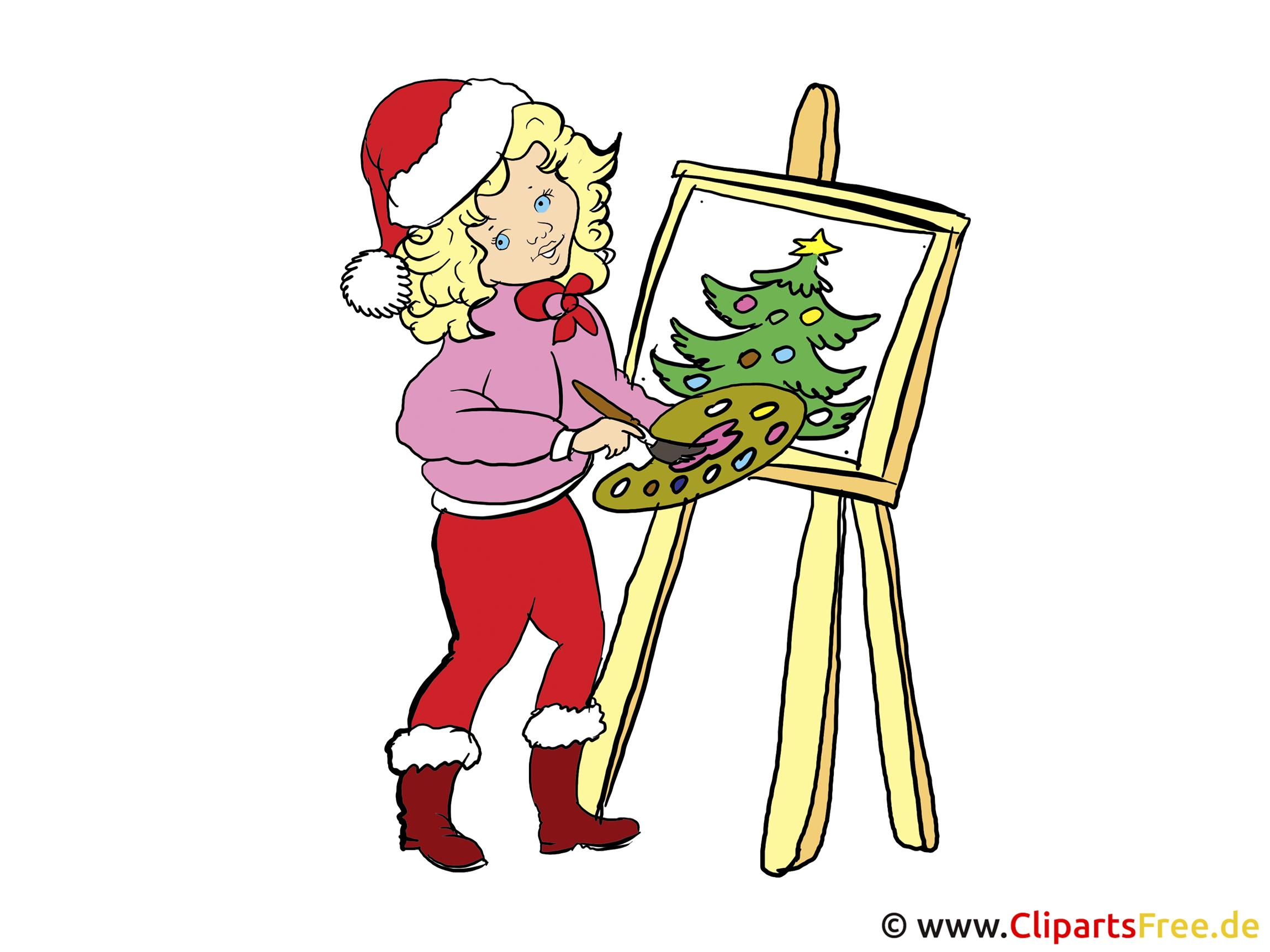 Malen und Basteln zu Weihnachten Illustration