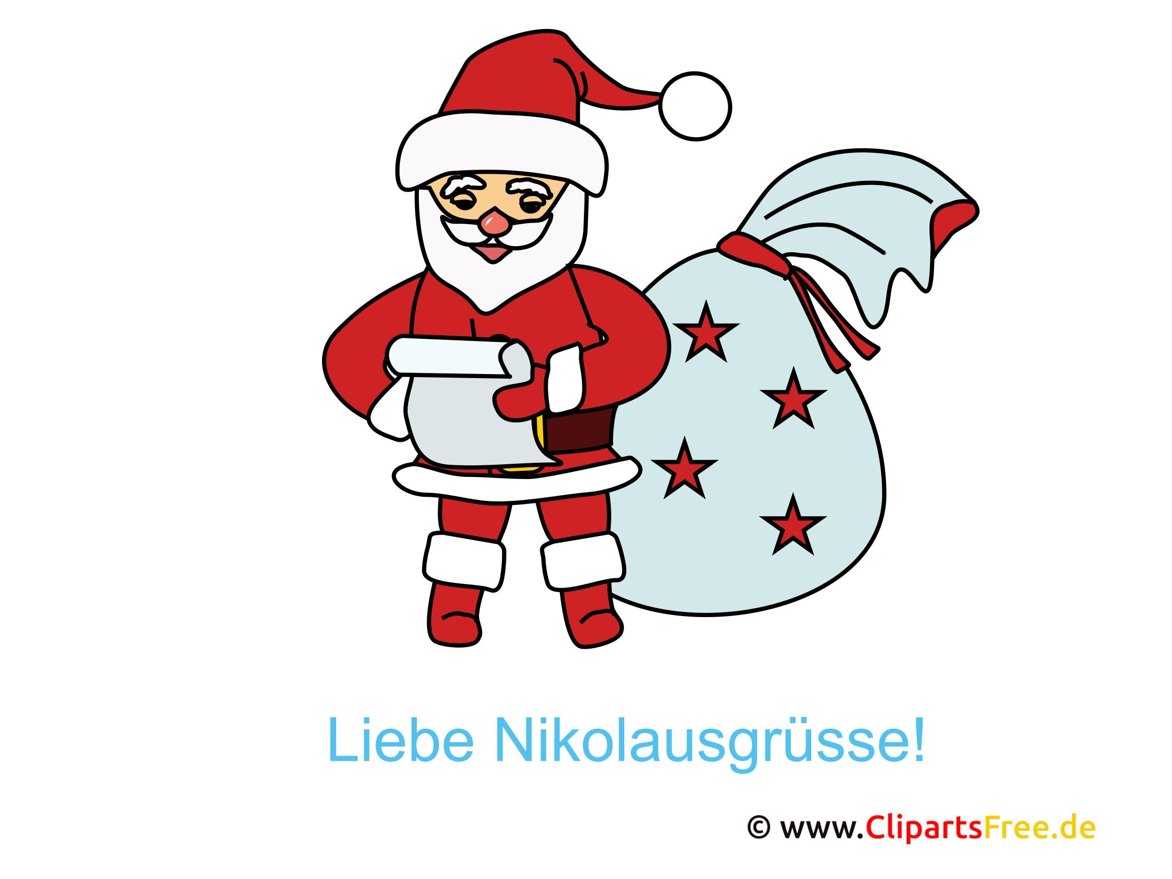 Nikolaus Cliparts, Bilder, Pics, Illustrationen