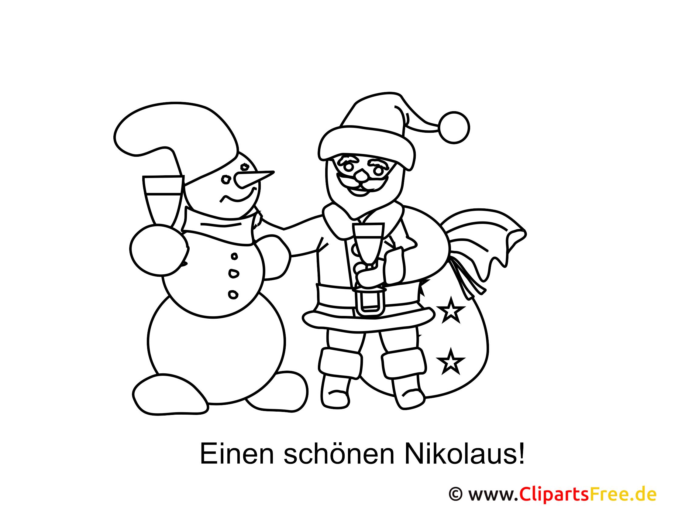 Nikolausbilder zum Ausmalen