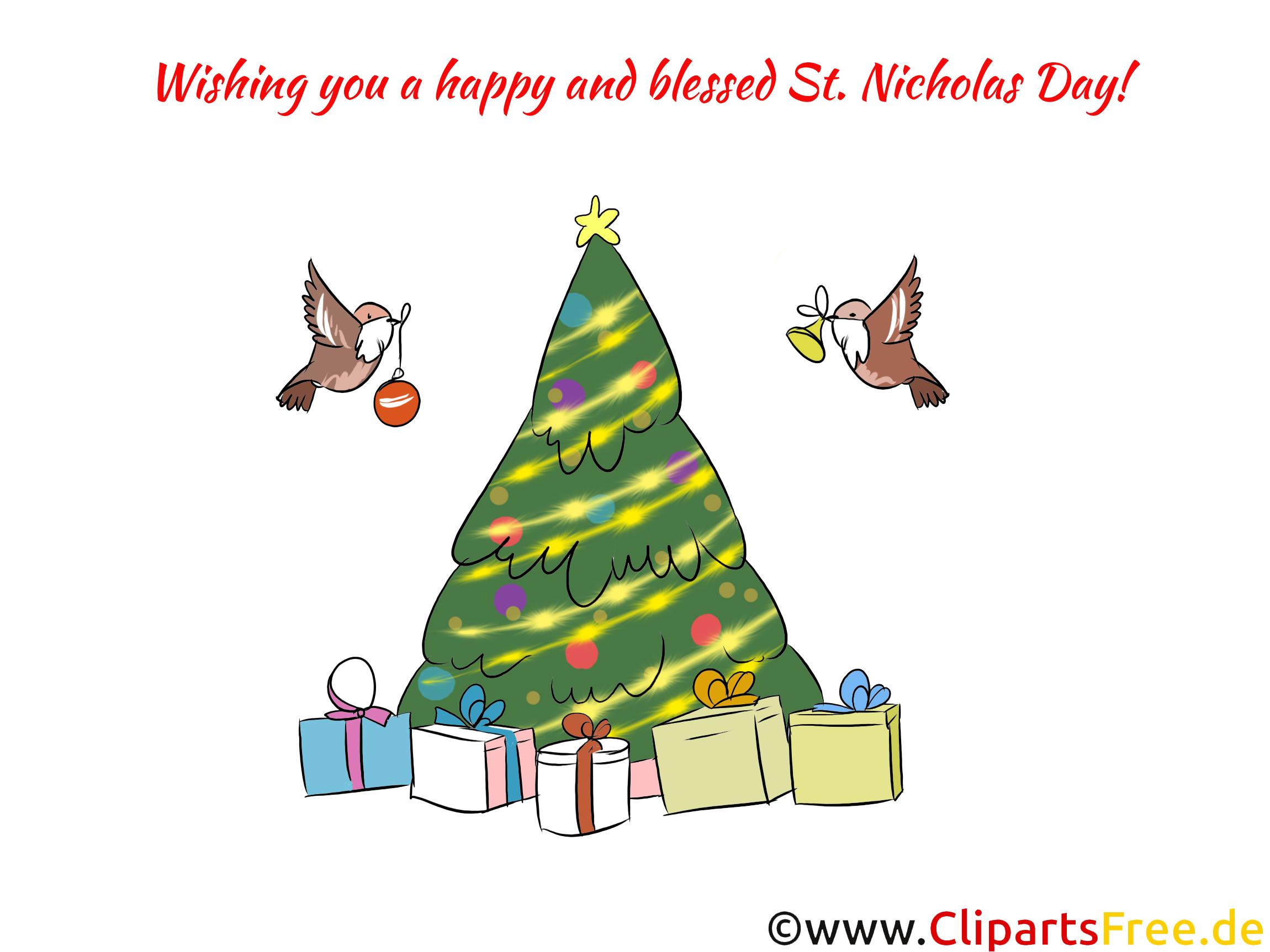 Nikolaustag Clipart zu Weihnachten