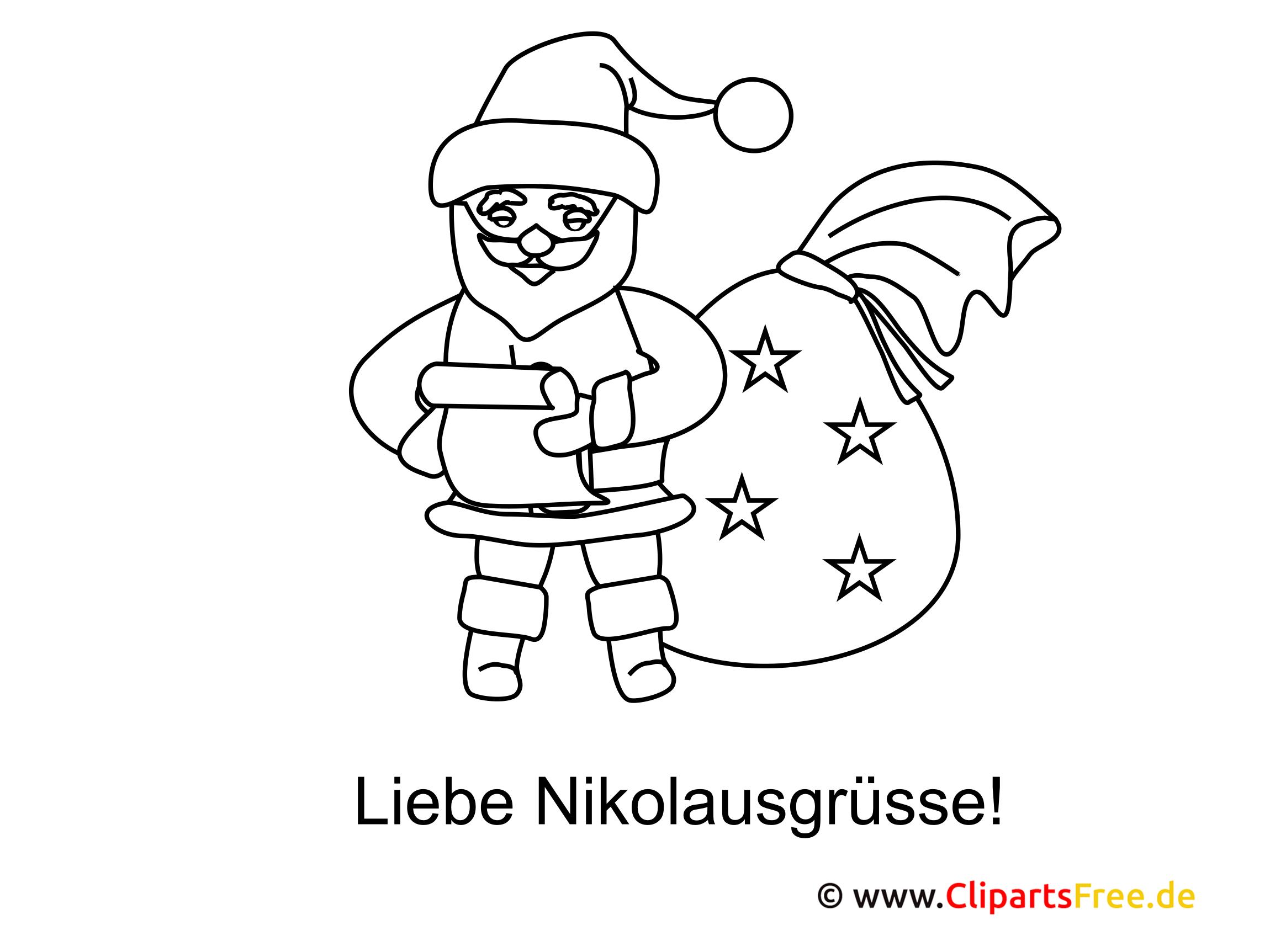 Nikolaustag Malvorlage
