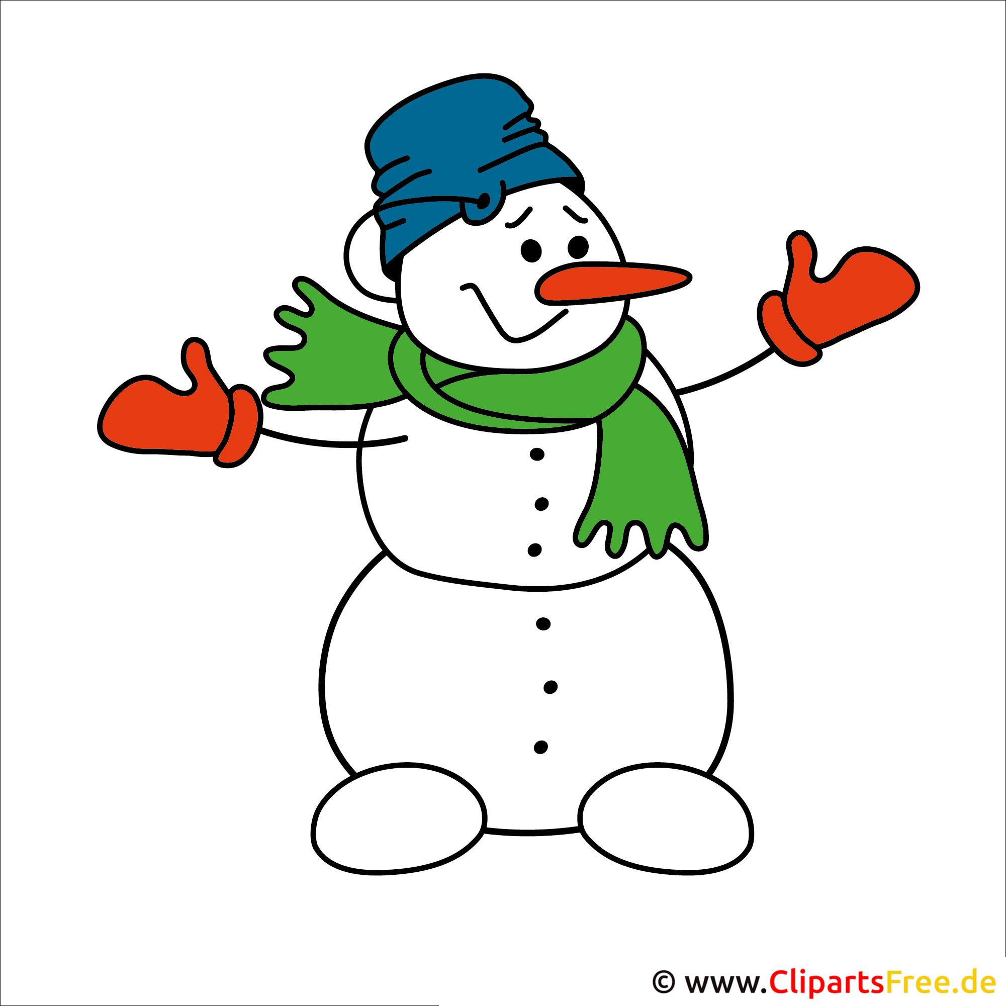 Schneemann Clipart Weihnachtsbild