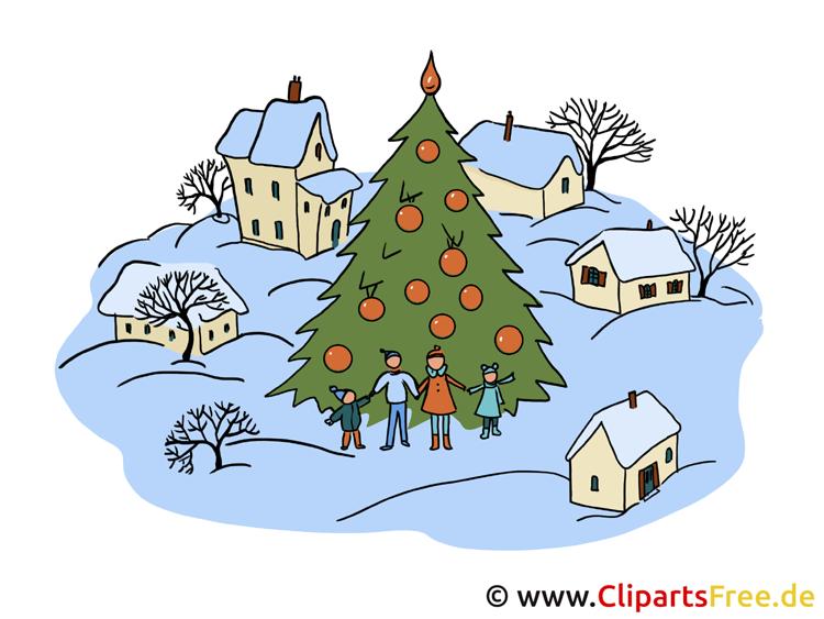 Weihnachtsbild zum Ausdrucken