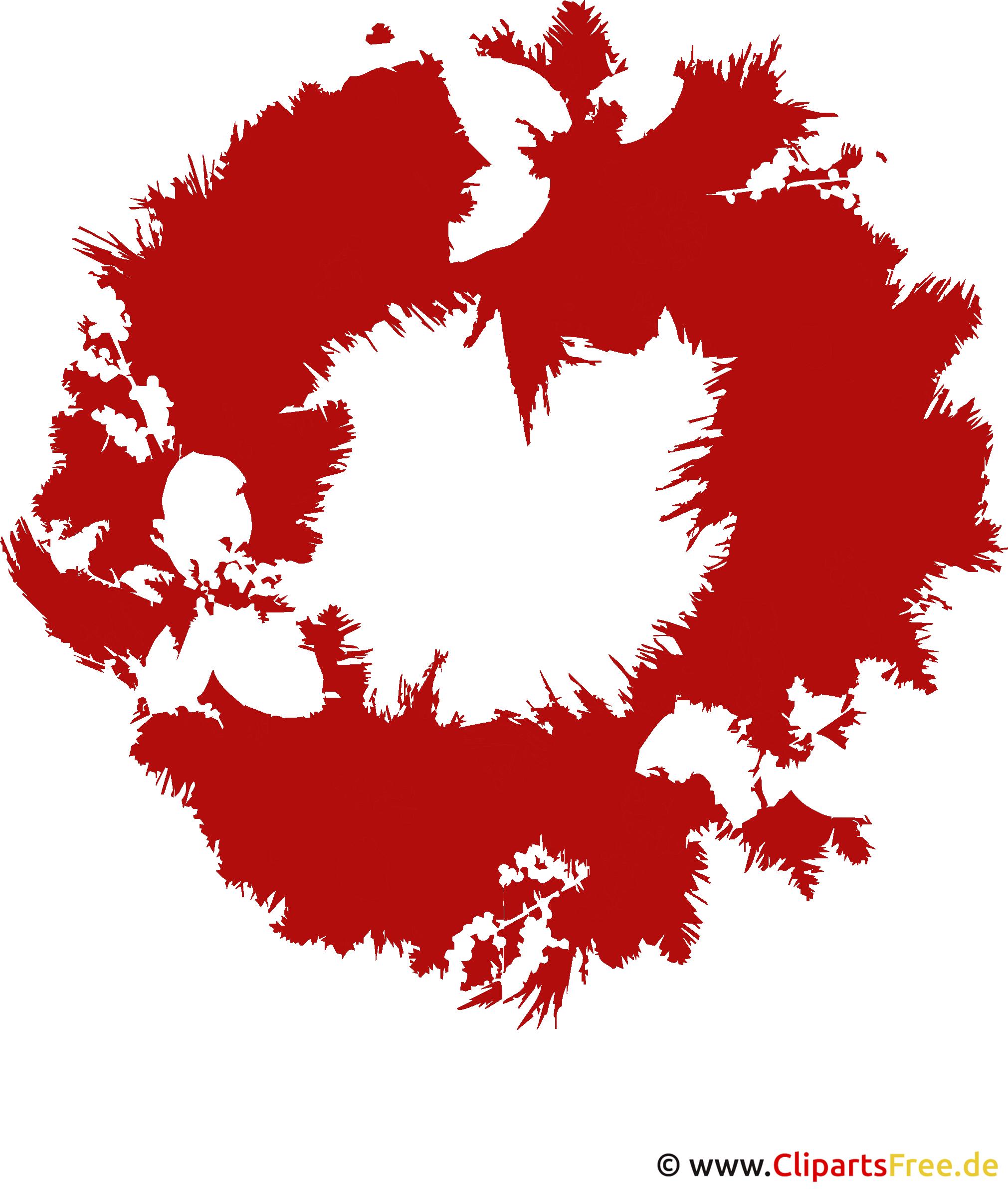 Weihnachtskranz Clipart PNG