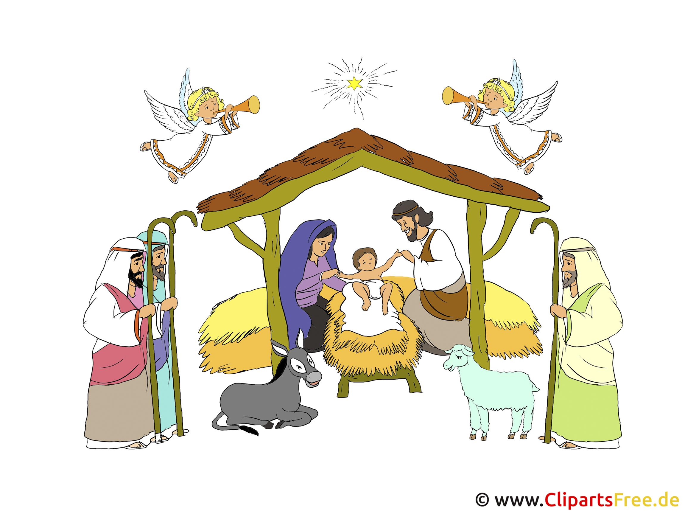 weihnachtskrippe bild illustration. Black Bedroom Furniture Sets. Home Design Ideas