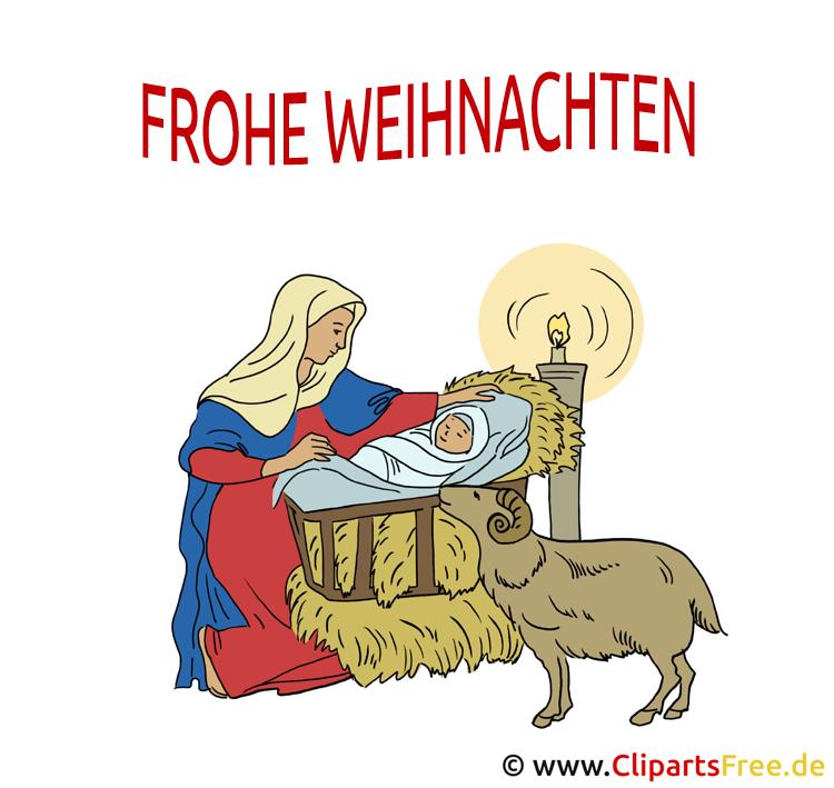 Weihnachtskrippe Clipart - Bild