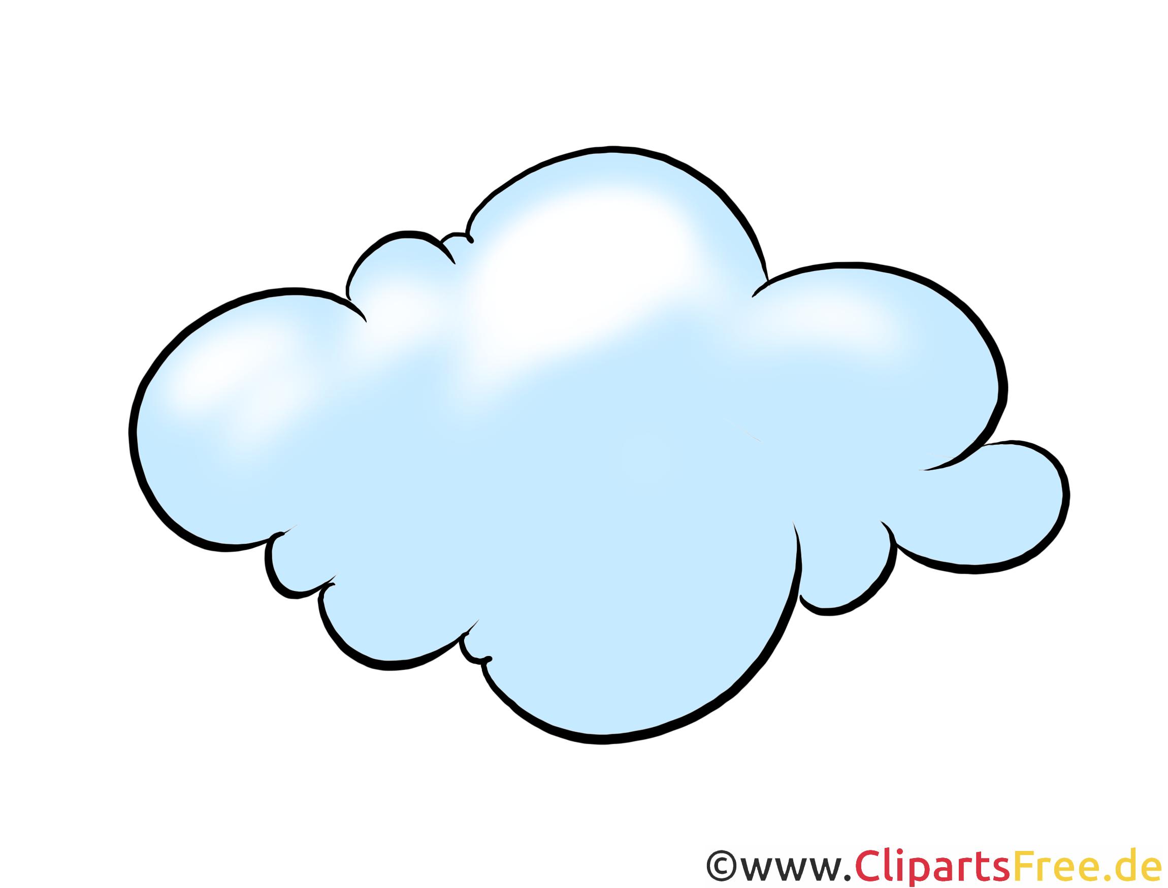 Blaue Wolke Clipart, Illustration, Bild kostenlos