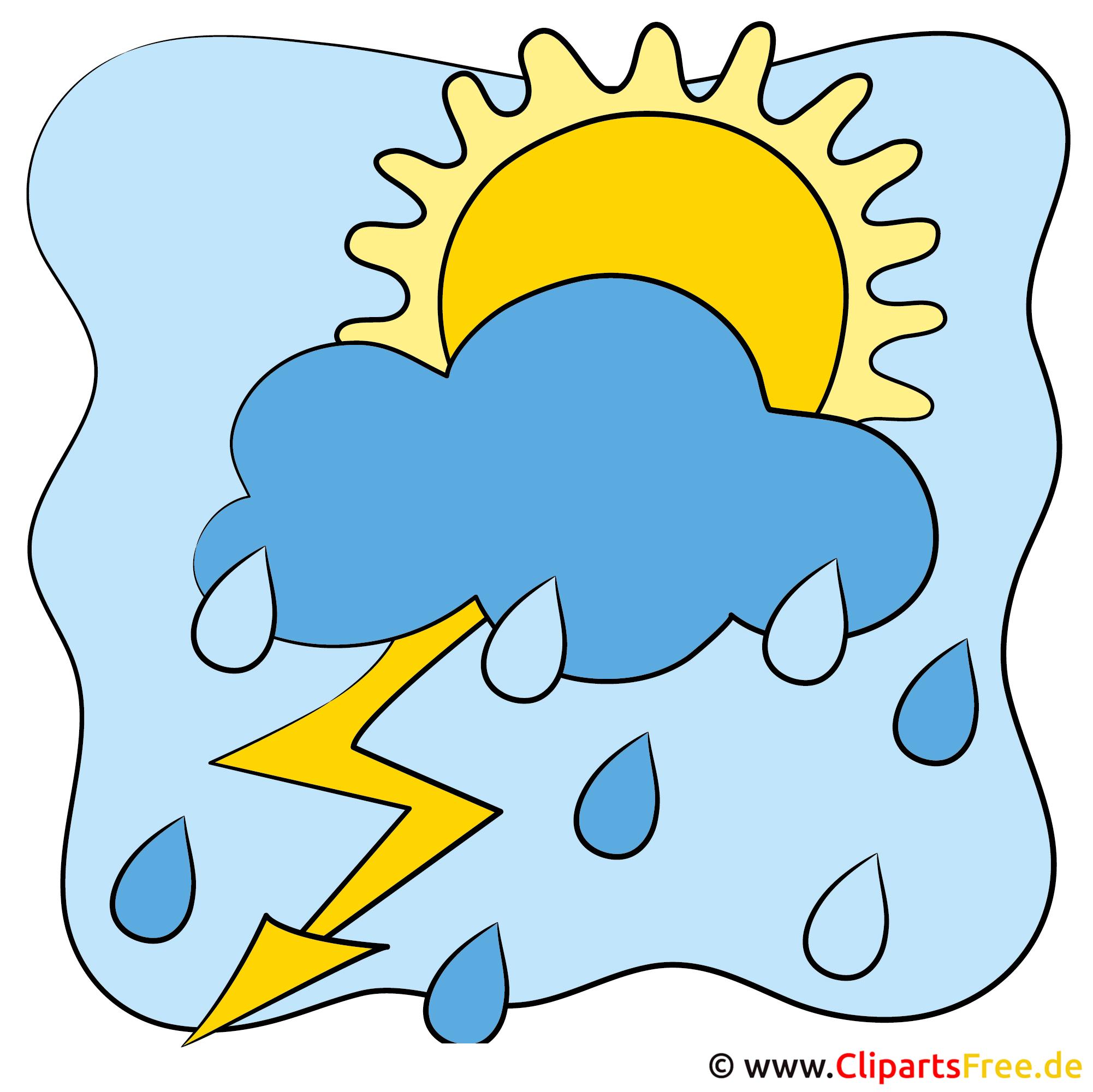 Blitz und Wolken - Bilder zu Wetter