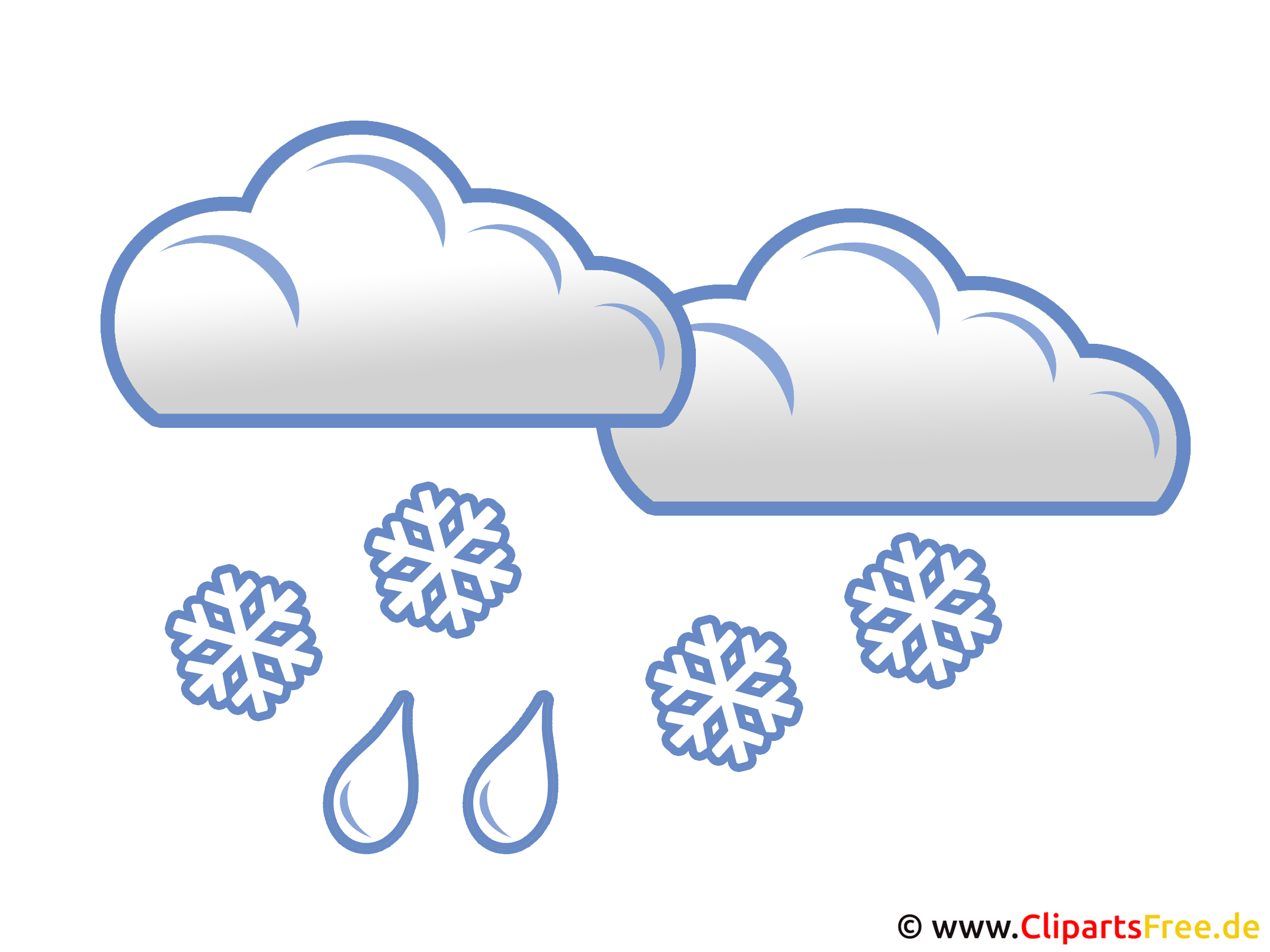 Schnee mit Regen - Wetter Bilder