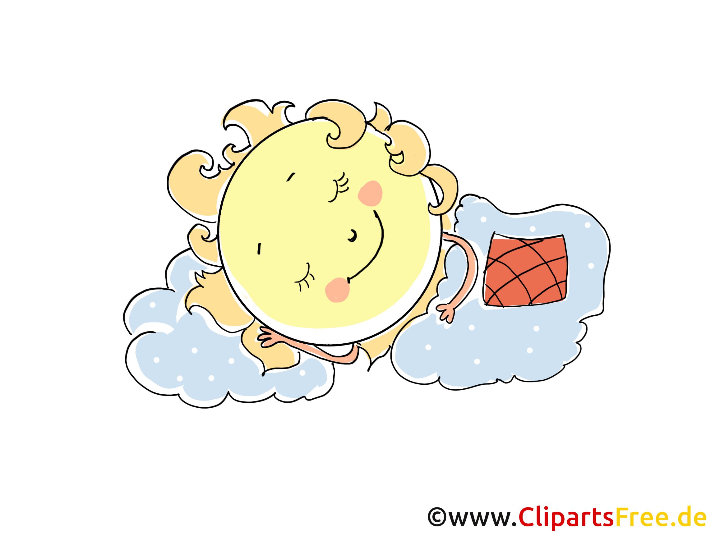 Cartoon Woman Sleeping In Bed