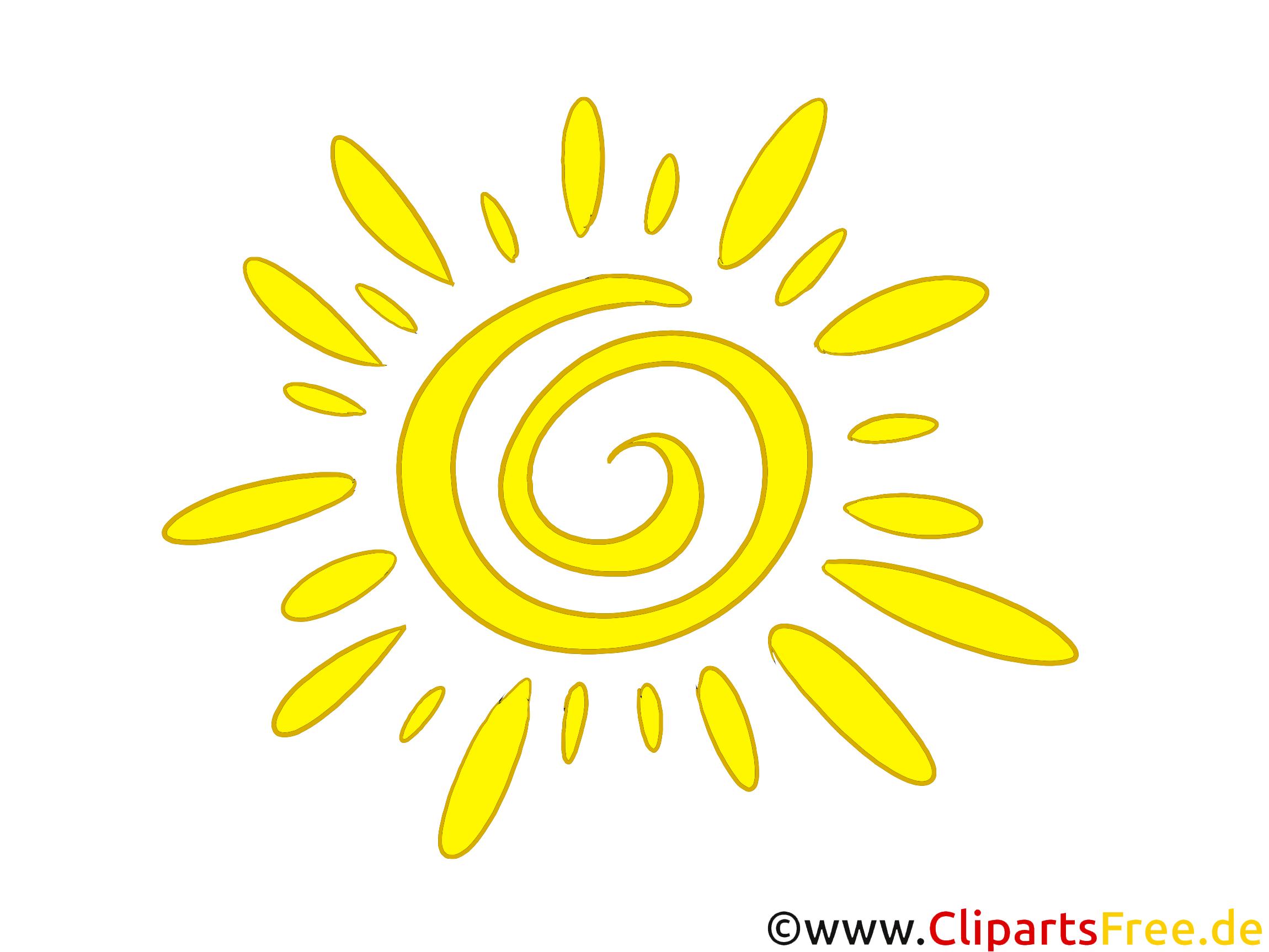 Sonne, stilisiert Clipart kostenlos