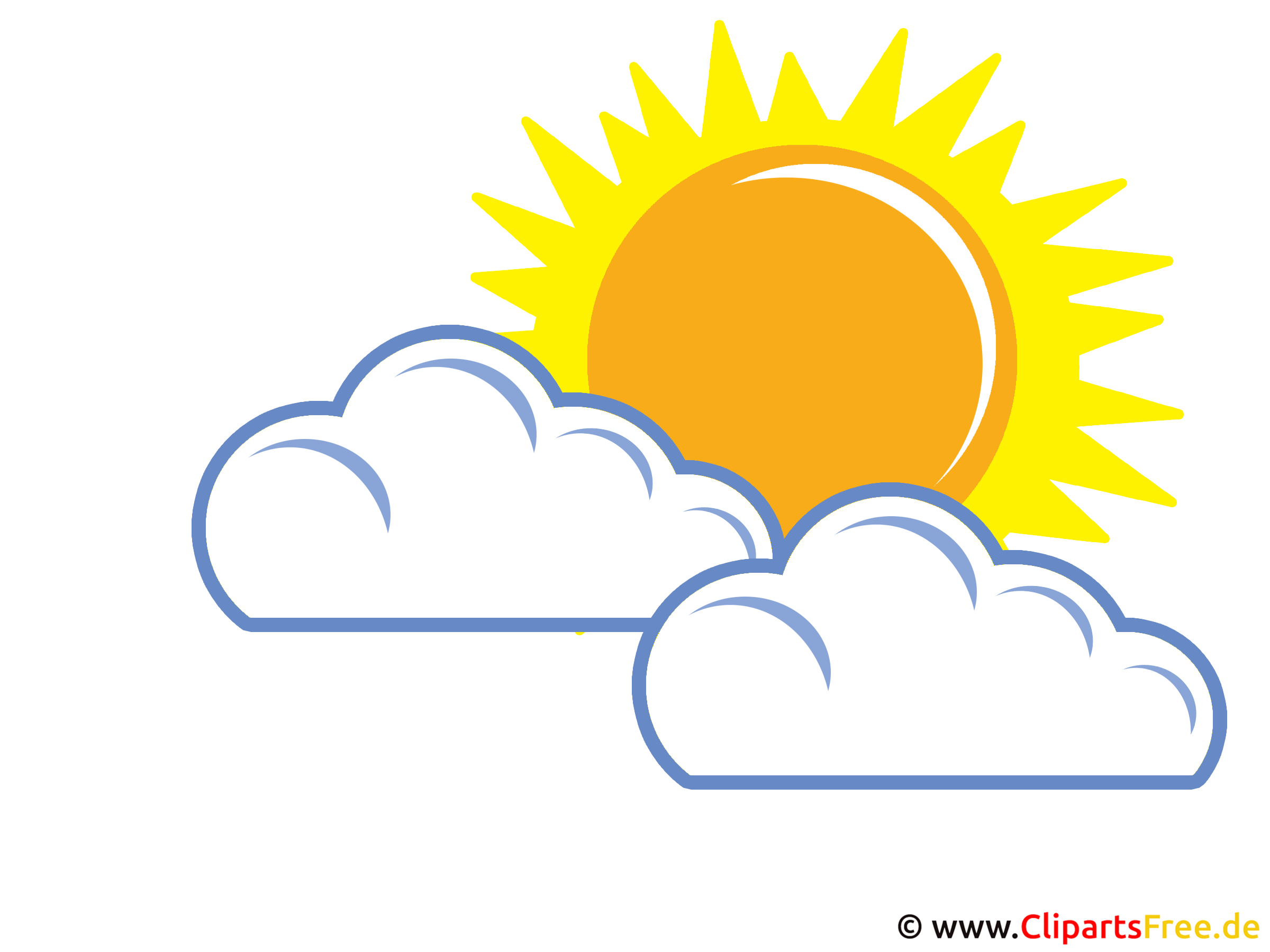 Wolken und Sonne - Wetter Bilder