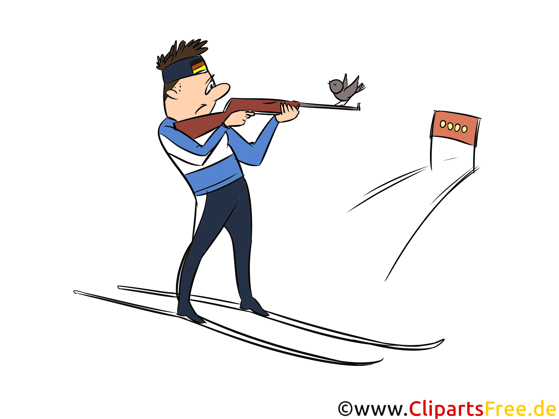 Biathlon Clipart, Bild, Illustration - Wintersportarten Bilder