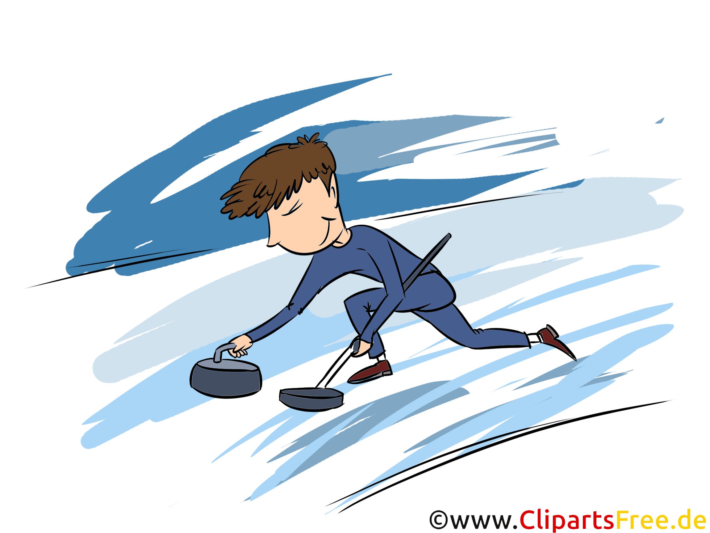 Curling Clipart, Bild, Illustration - Wintersportarten Bilder