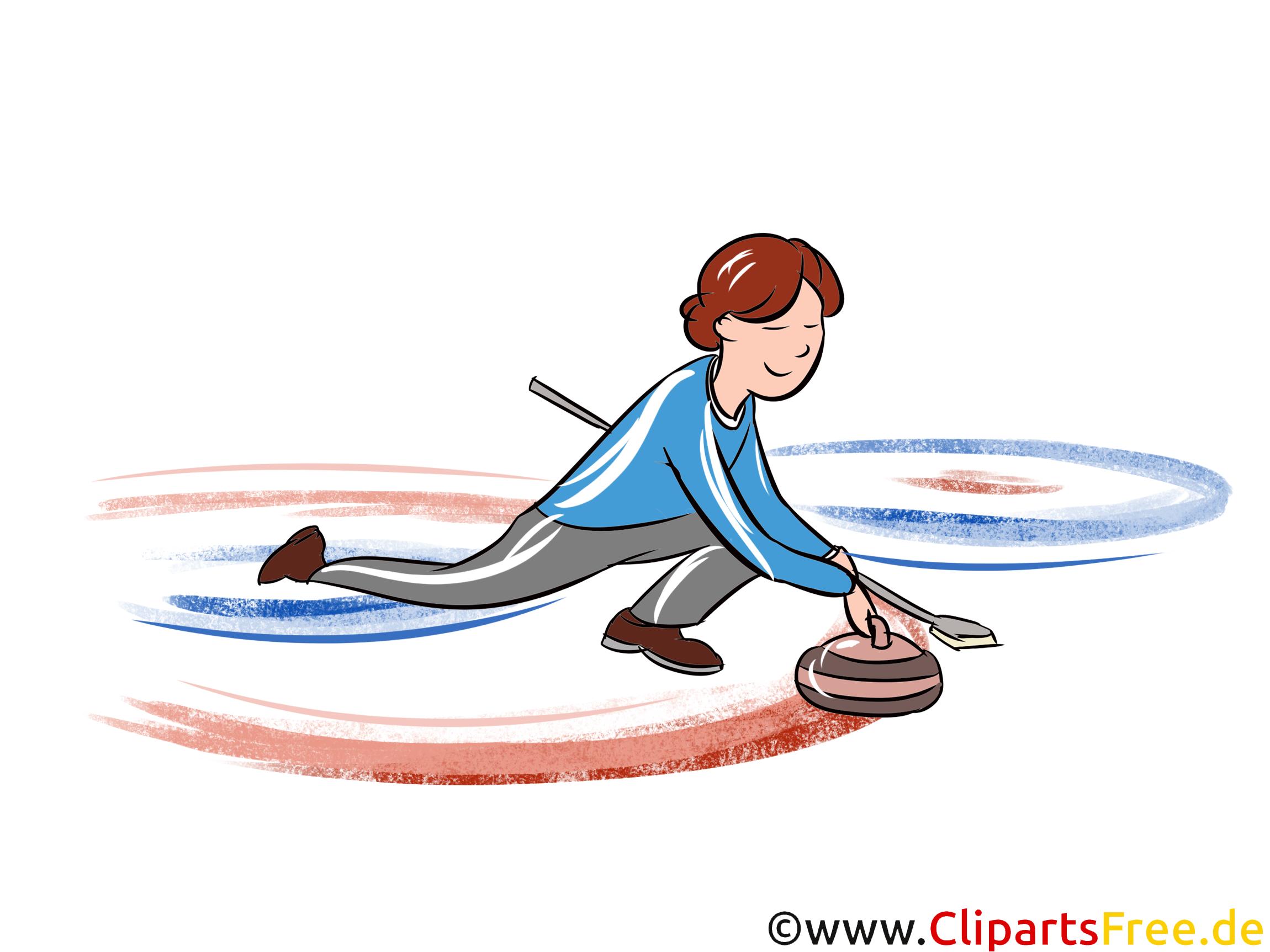 curling illustration wintersport cliparts bilder. Black Bedroom Furniture Sets. Home Design Ideas