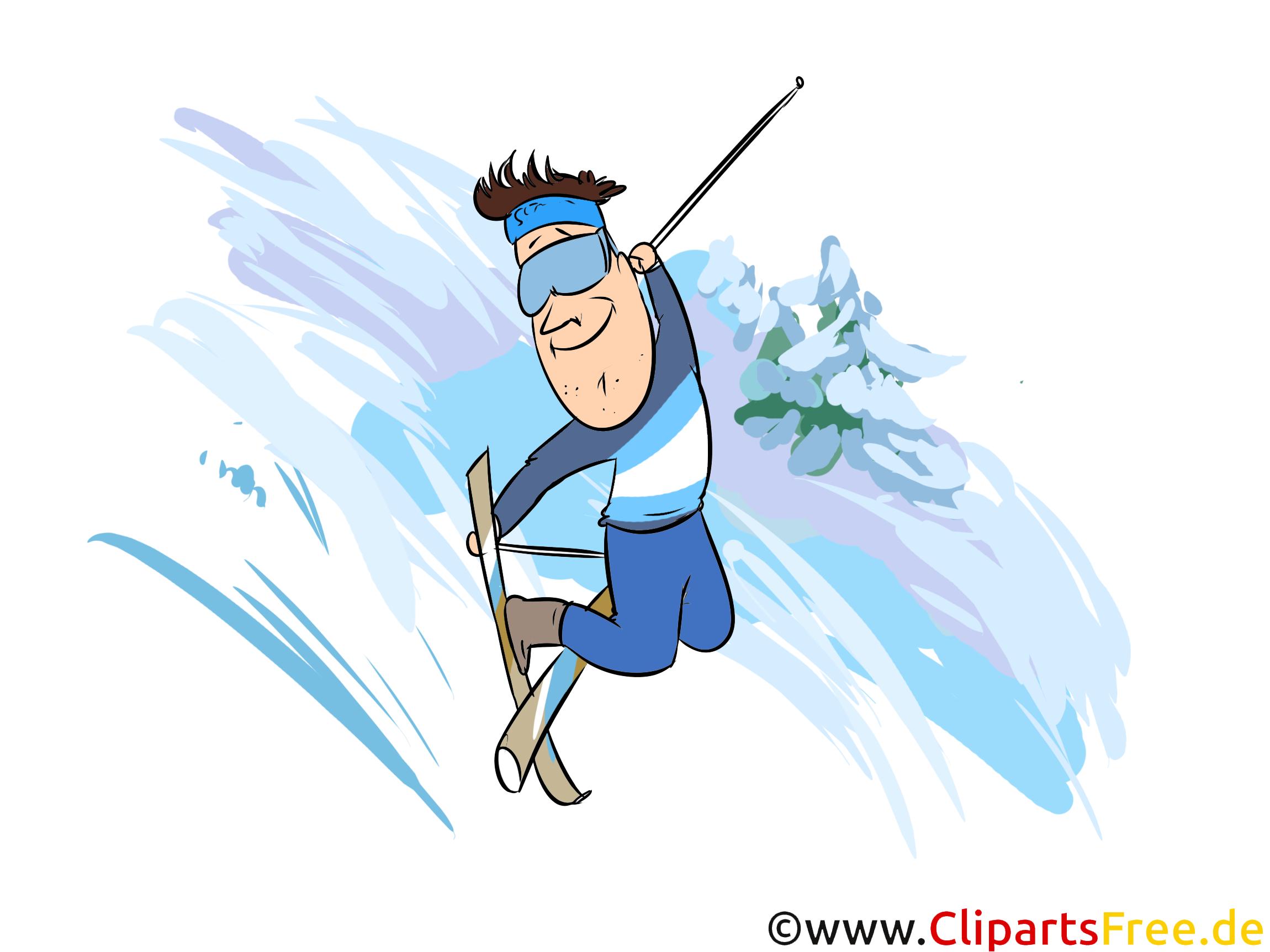 Freeskiing Illustration - Wintersport Cliparts, Bilder