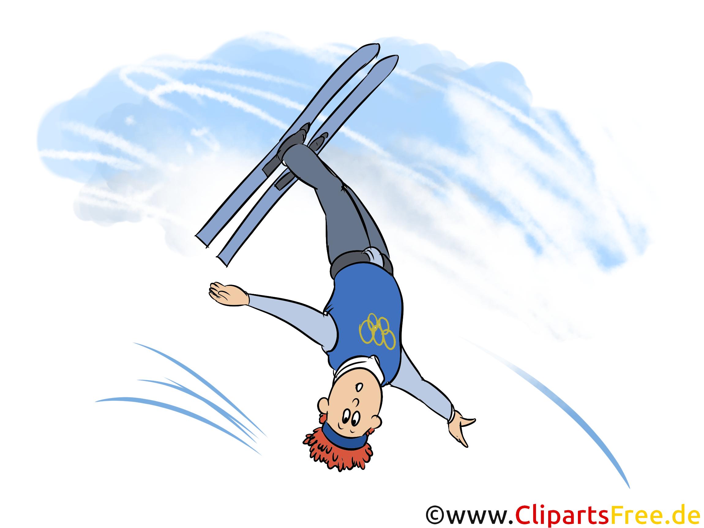 Freestyle-Skiing Illustration - Wintersport Cliparts, Bilder