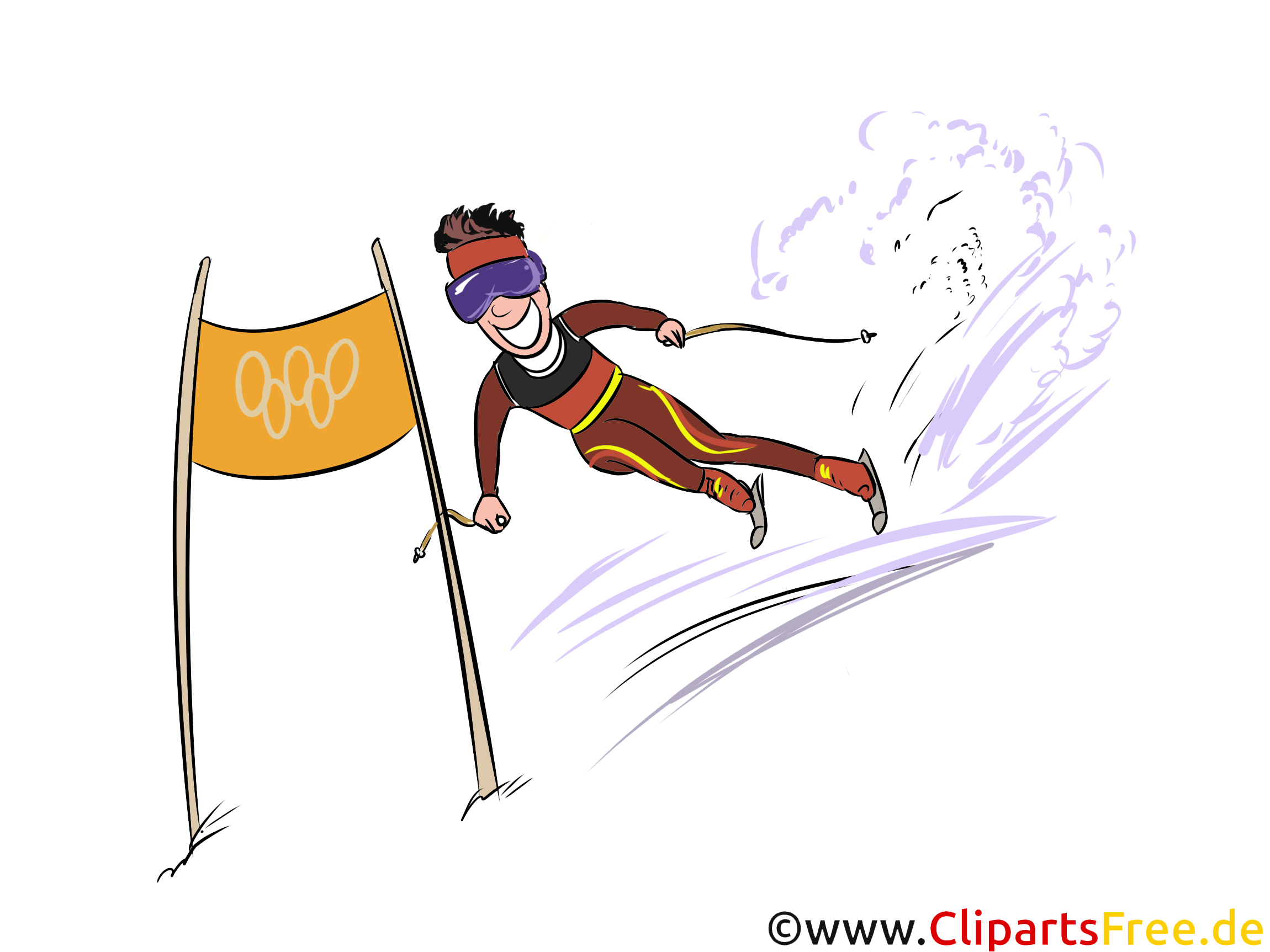 Ski Alpin Illustration - Wintersport Cliparts, Bilder