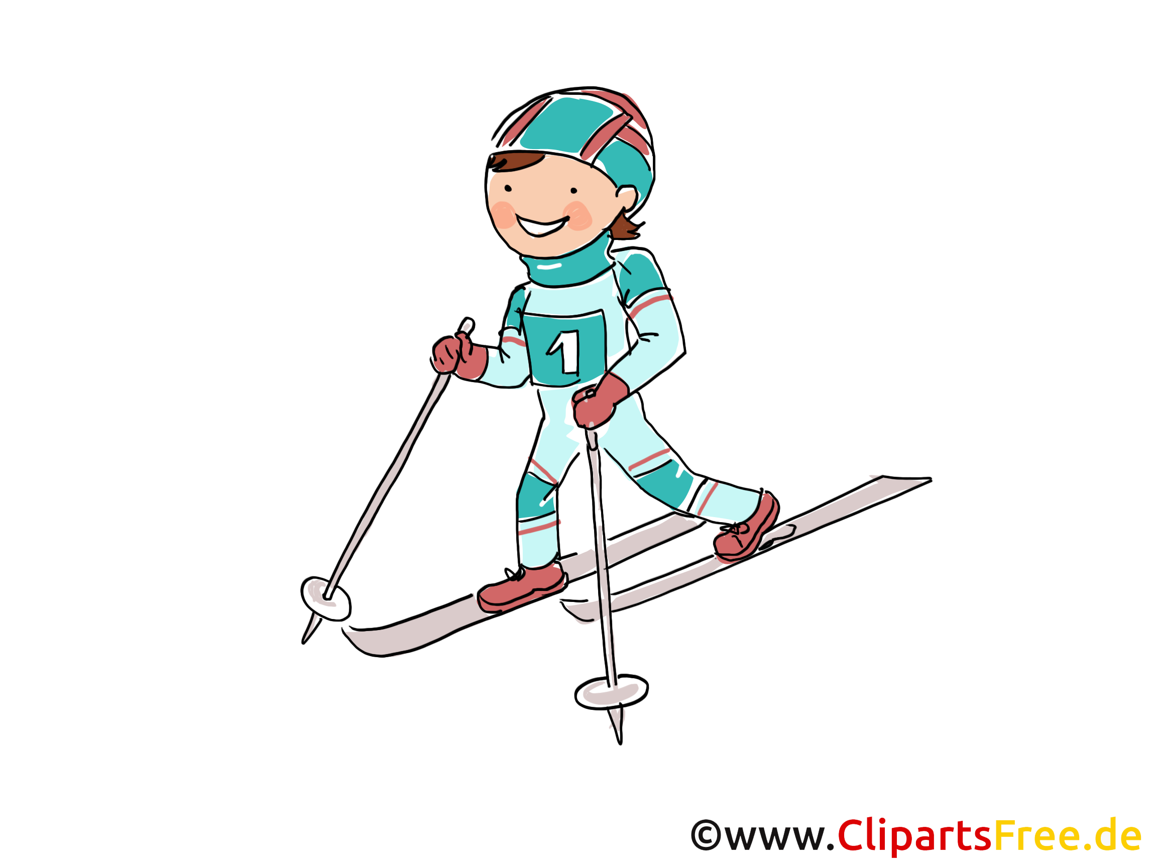 Ski Bild, Sport Cliparts, Comic, Cartoon, Image gratis
