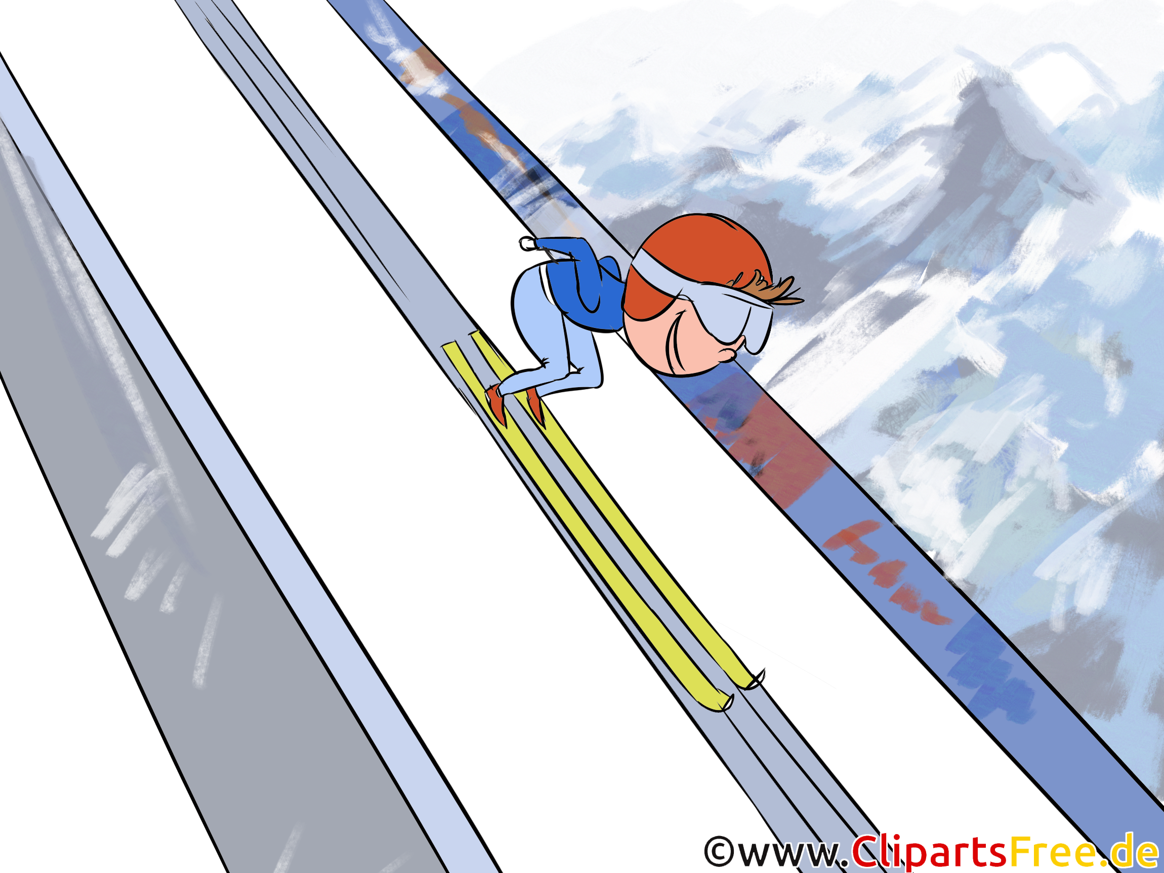 Skispringen Illustration, Bild Sport Winter