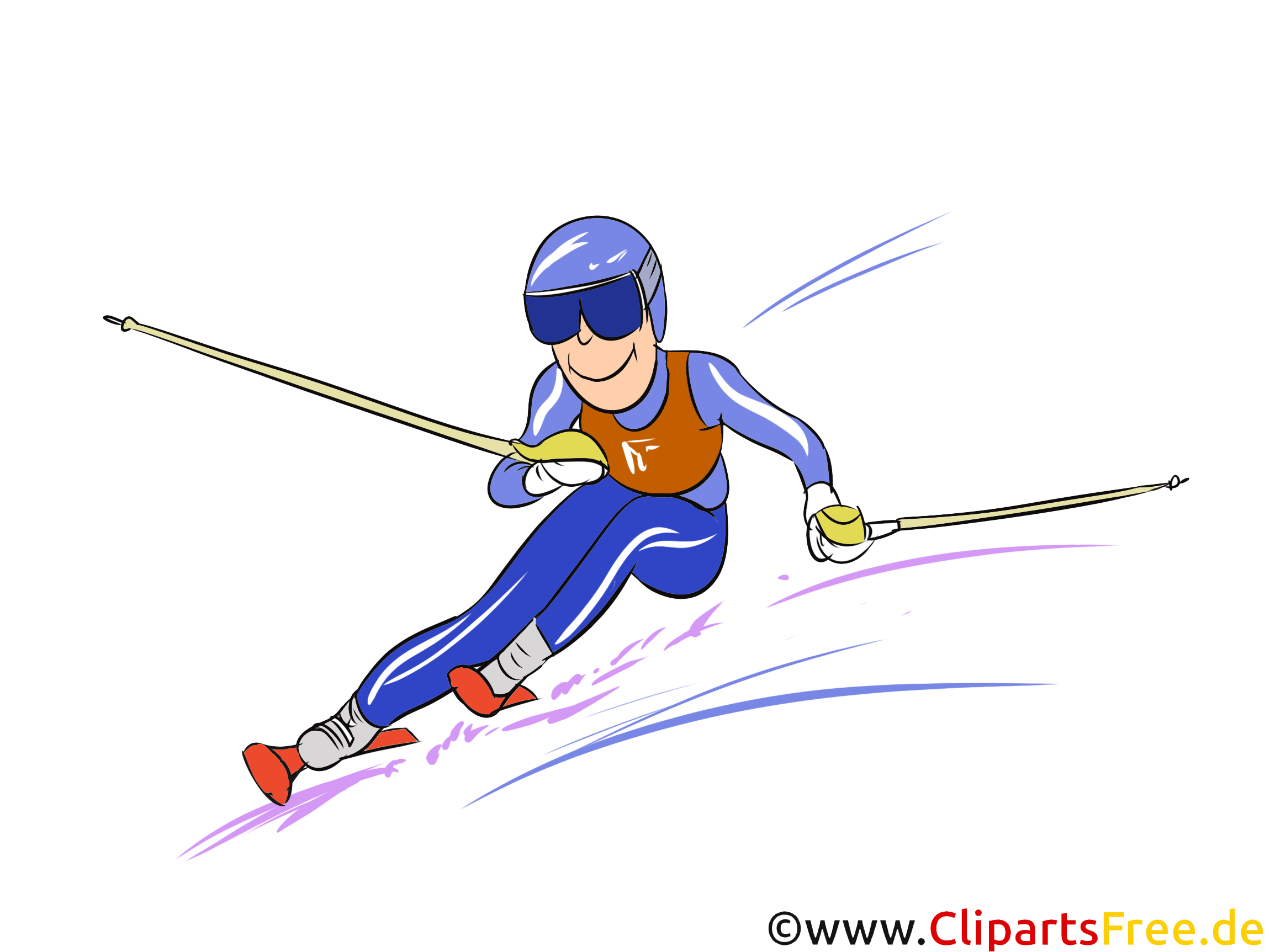 Slalom Illustration - Wintersport Cliparts, Bilder