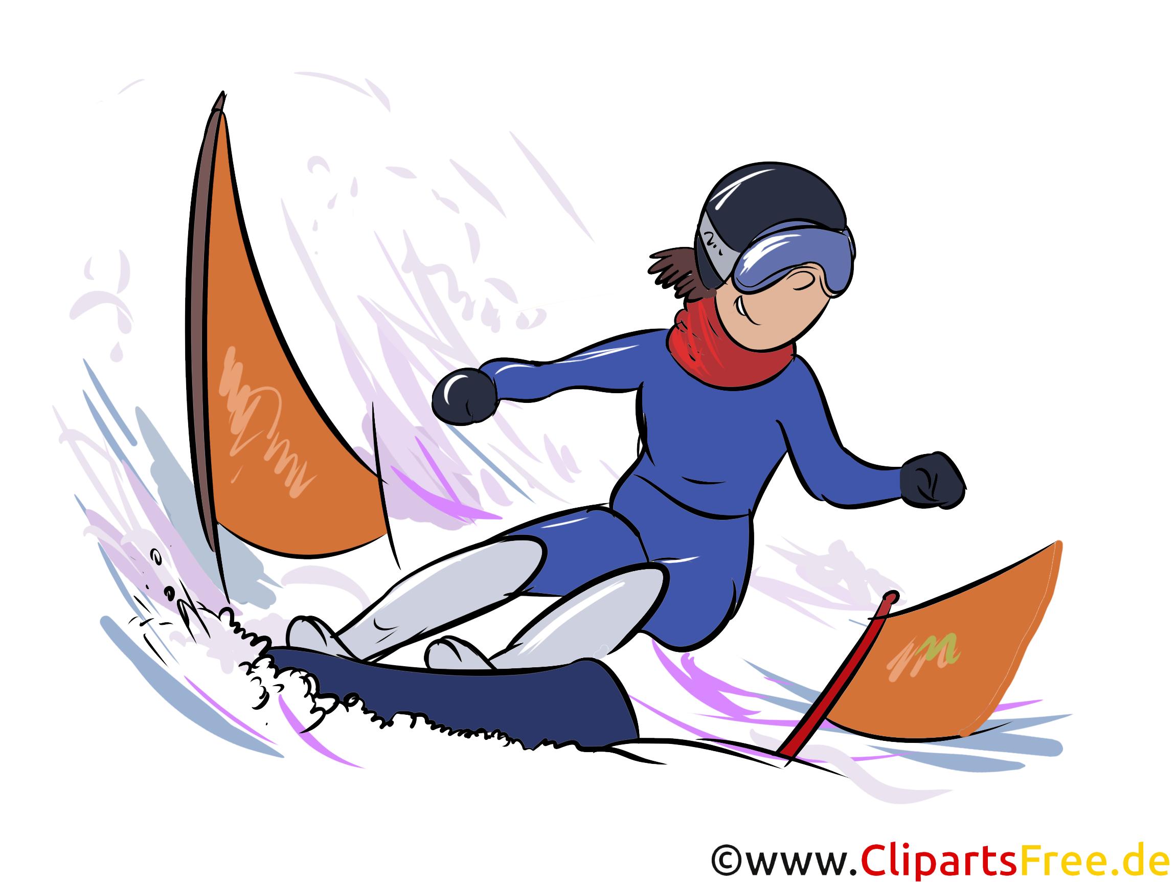 Snowboard Clipart, Bild, Illustration - Wintersportarten Bilder