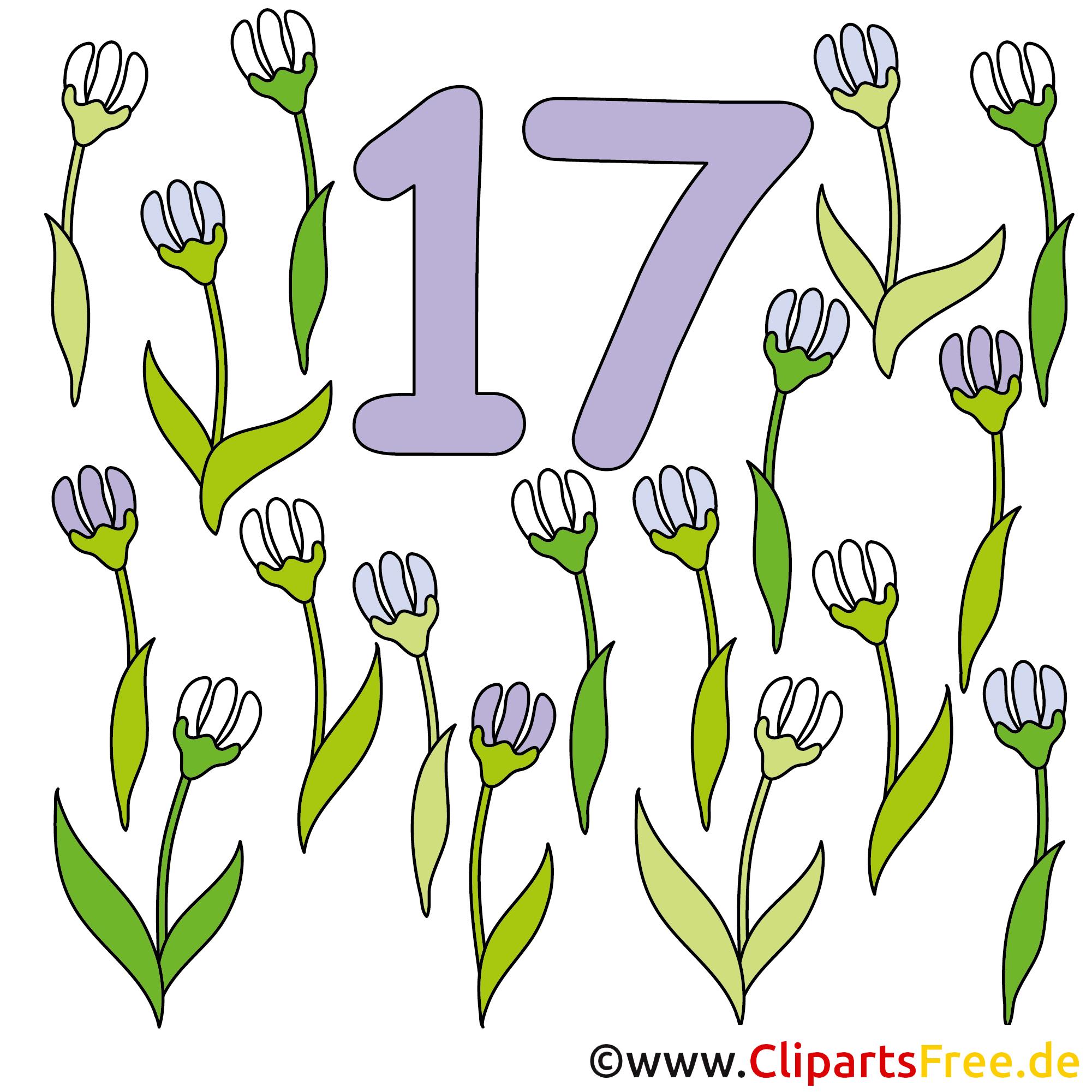 17 - Zahlen Cartoon