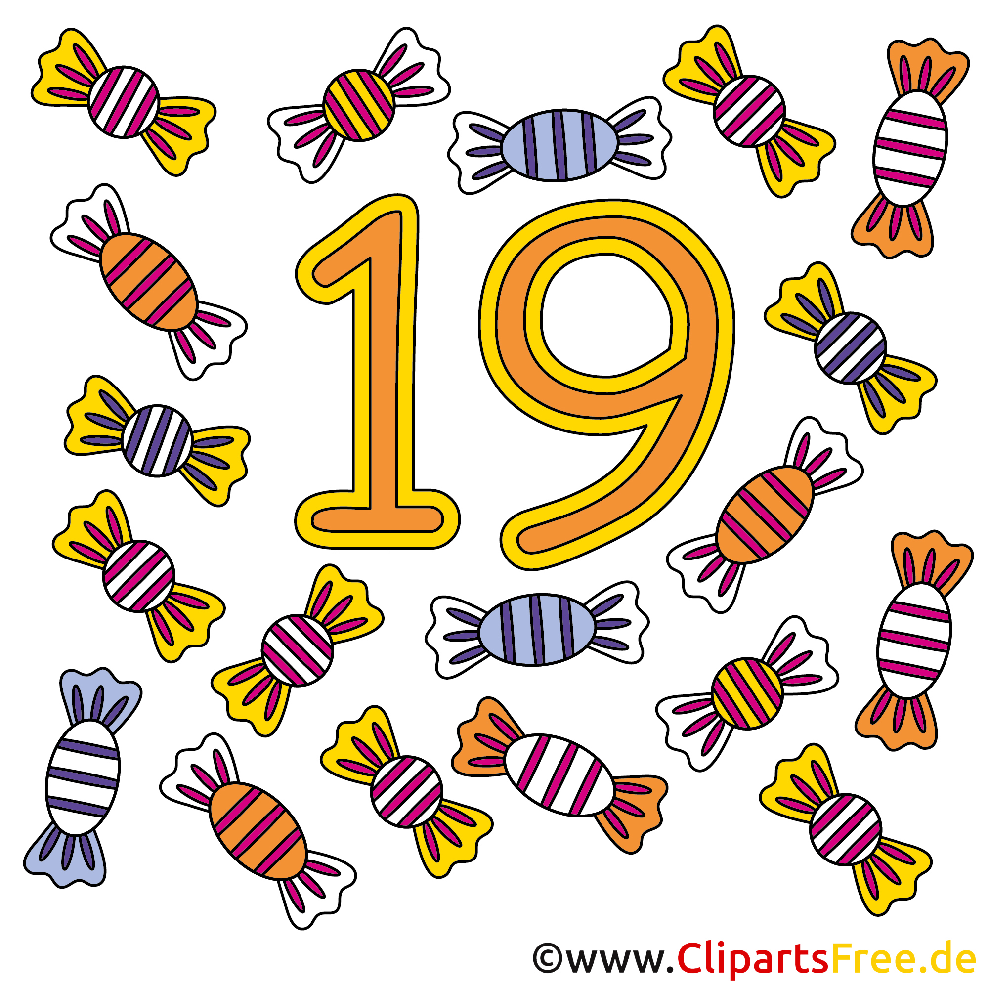 19 - Ziffer Lizenzfreie Bilder