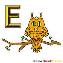 Duits alfabet - beeld van de uil
